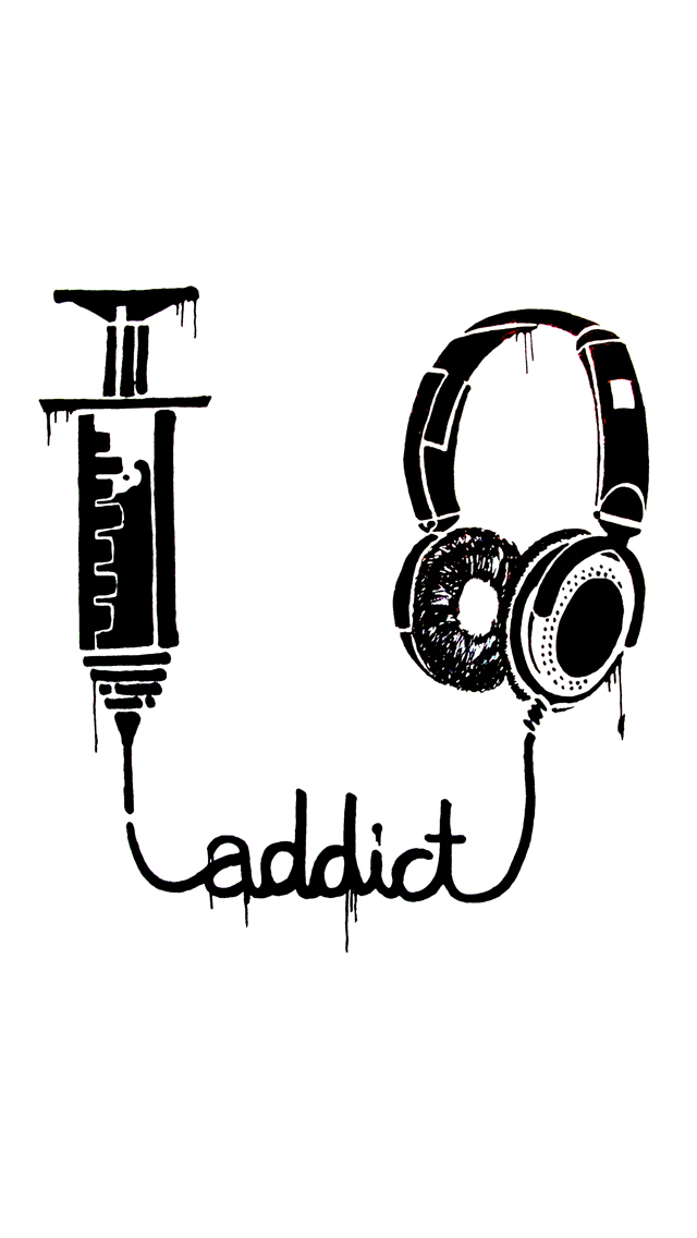 Music Addict 3Wallpapers iPhone 5 Music Addict
