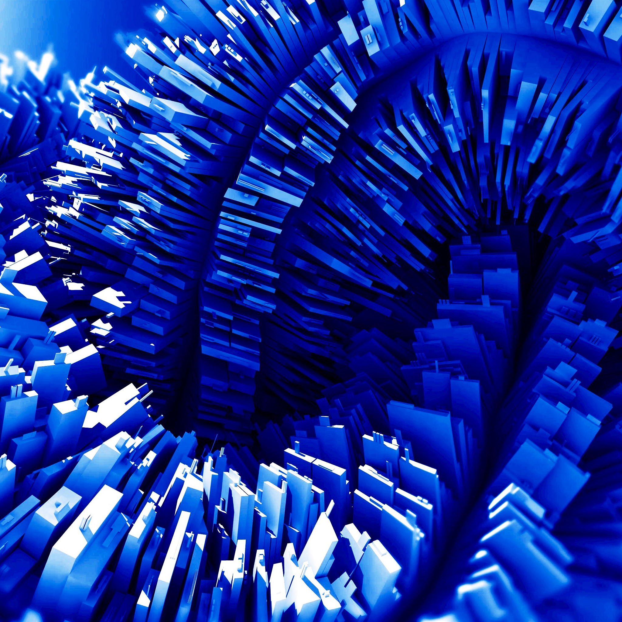 3D Blue 3Wallpapers ipad Retina 3D Blue   iPad Retina