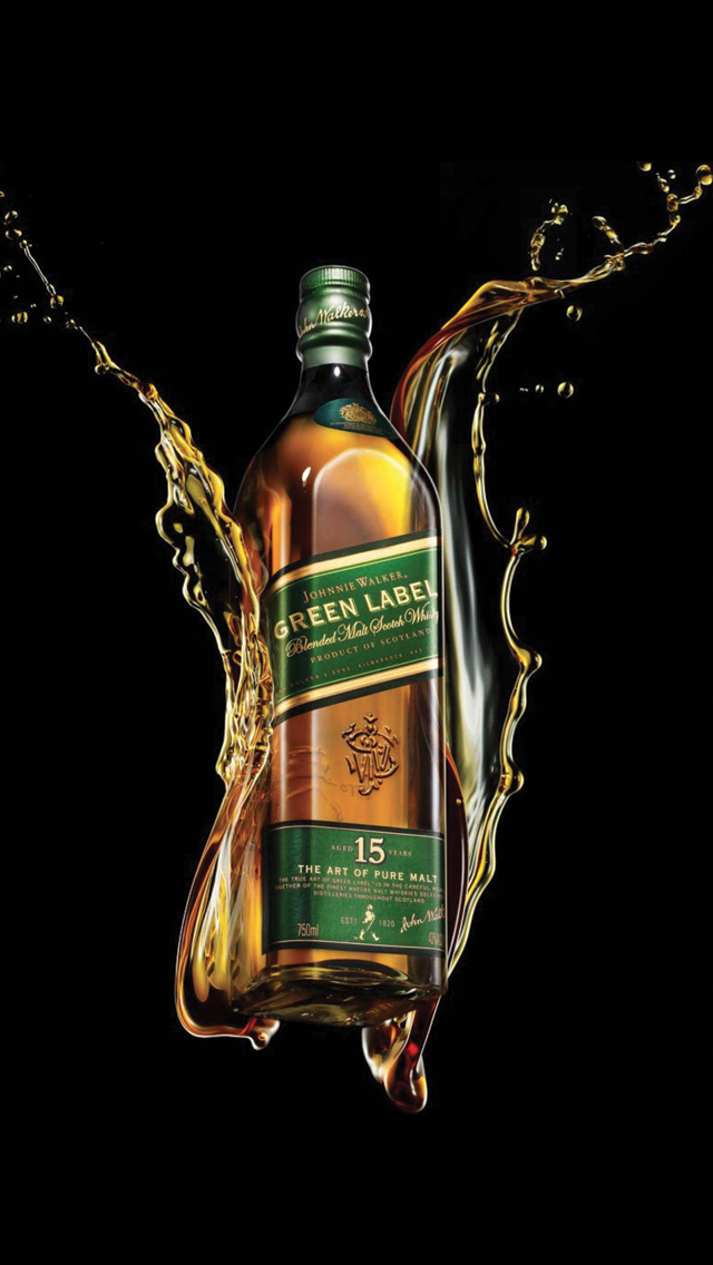 Green Alcohol Drink Johnnie Walker 3Wallpapers iPhone 5 Green Alcohol Drink Johnnie Walker