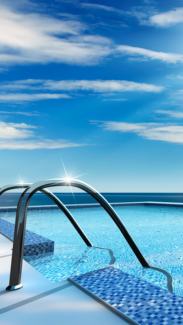 Swimming Pool Glittering Water 3Wallpapers iPhone  Swimming Pool Glittering Water
