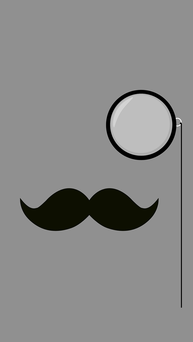 Classy Mustache 3Wallpapers iPhone Classy Mustache