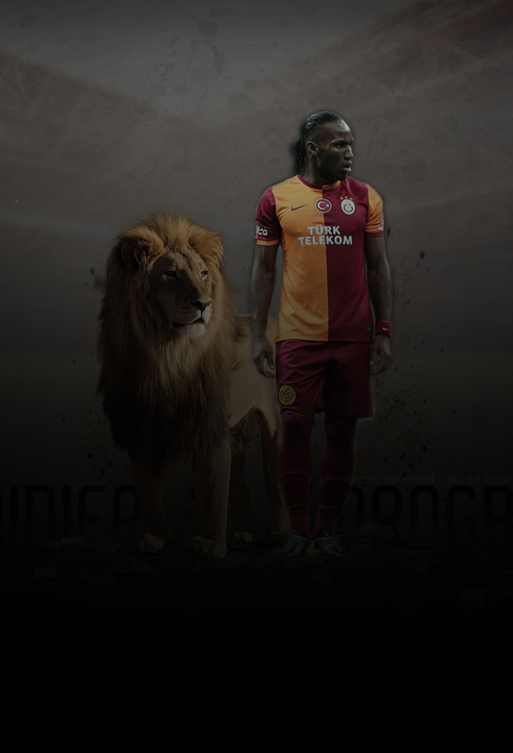 Didier Drogba 3Wallpapers iPhone Parallax Didier Drogba