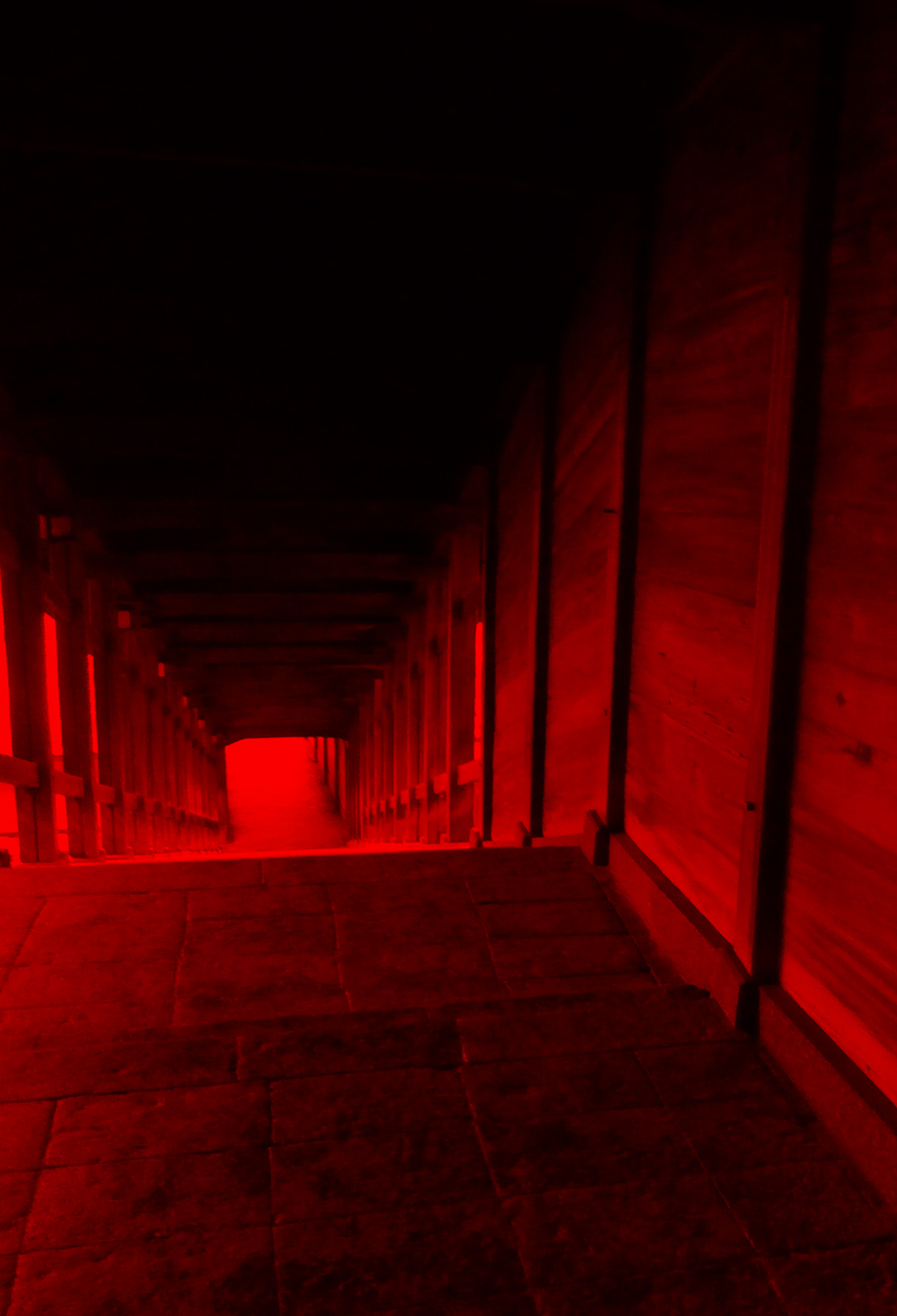 Red Tunnel 3Wallpapers iPhone Parallax Red Tunnel