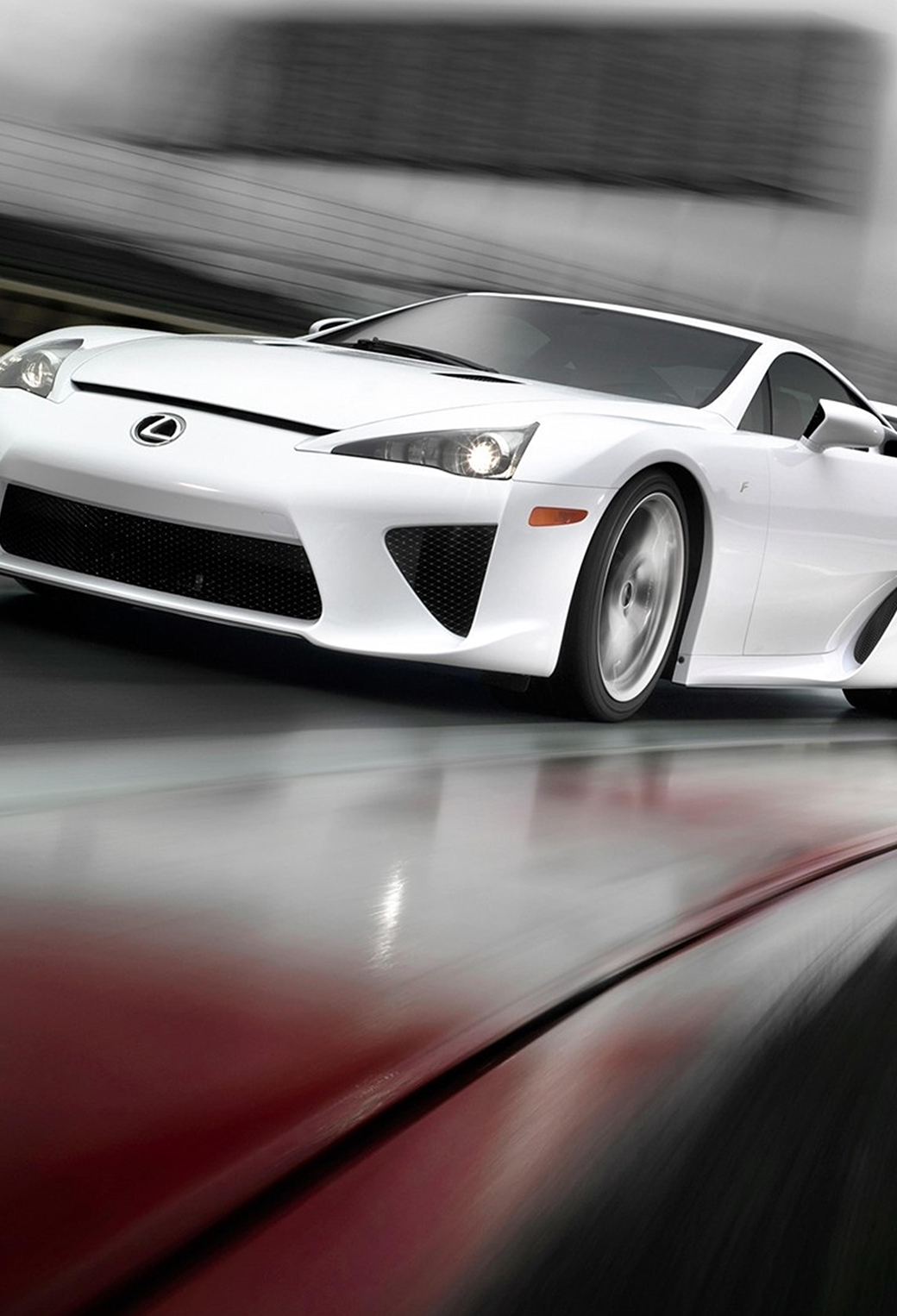 White Lexus LFA 3Wallpapers iphone parallax White Lexus LFA