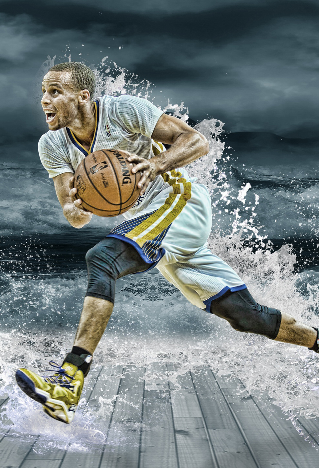 stephen curry splash 3Wallpapers iPhone Parallax Stephen Curry Splash