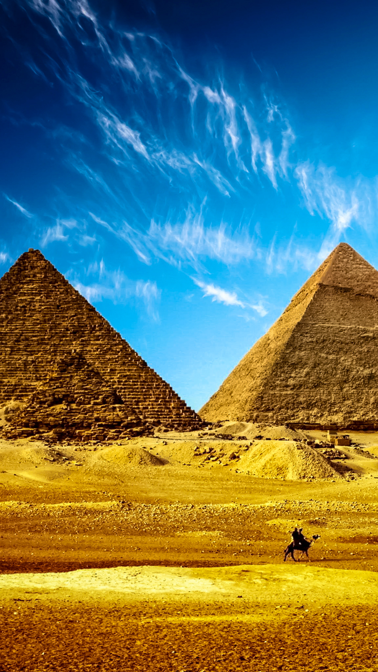 Passing By Pyramids 3Wallpapers iphone Parallax Passing By Pyramids