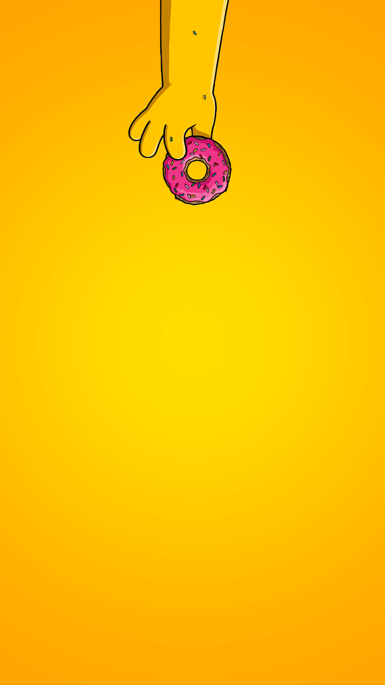 Simpsons Yellow Woohoo Donut 3Wallpapers iPhone Parallax Simpsons Yellow Woohoo Donut