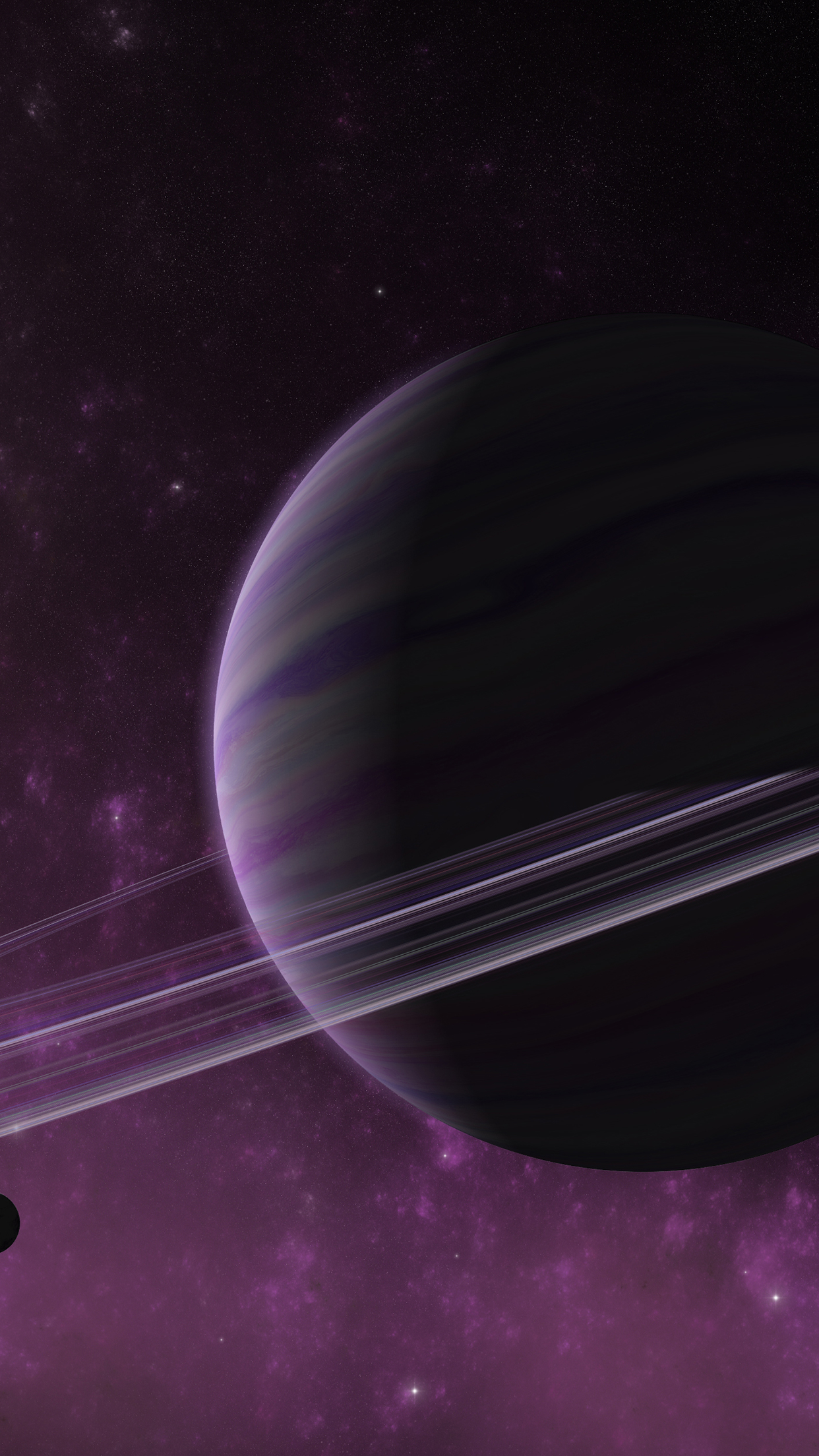 Space Purple 3Wallpapers Parallax iPhone Space Purple