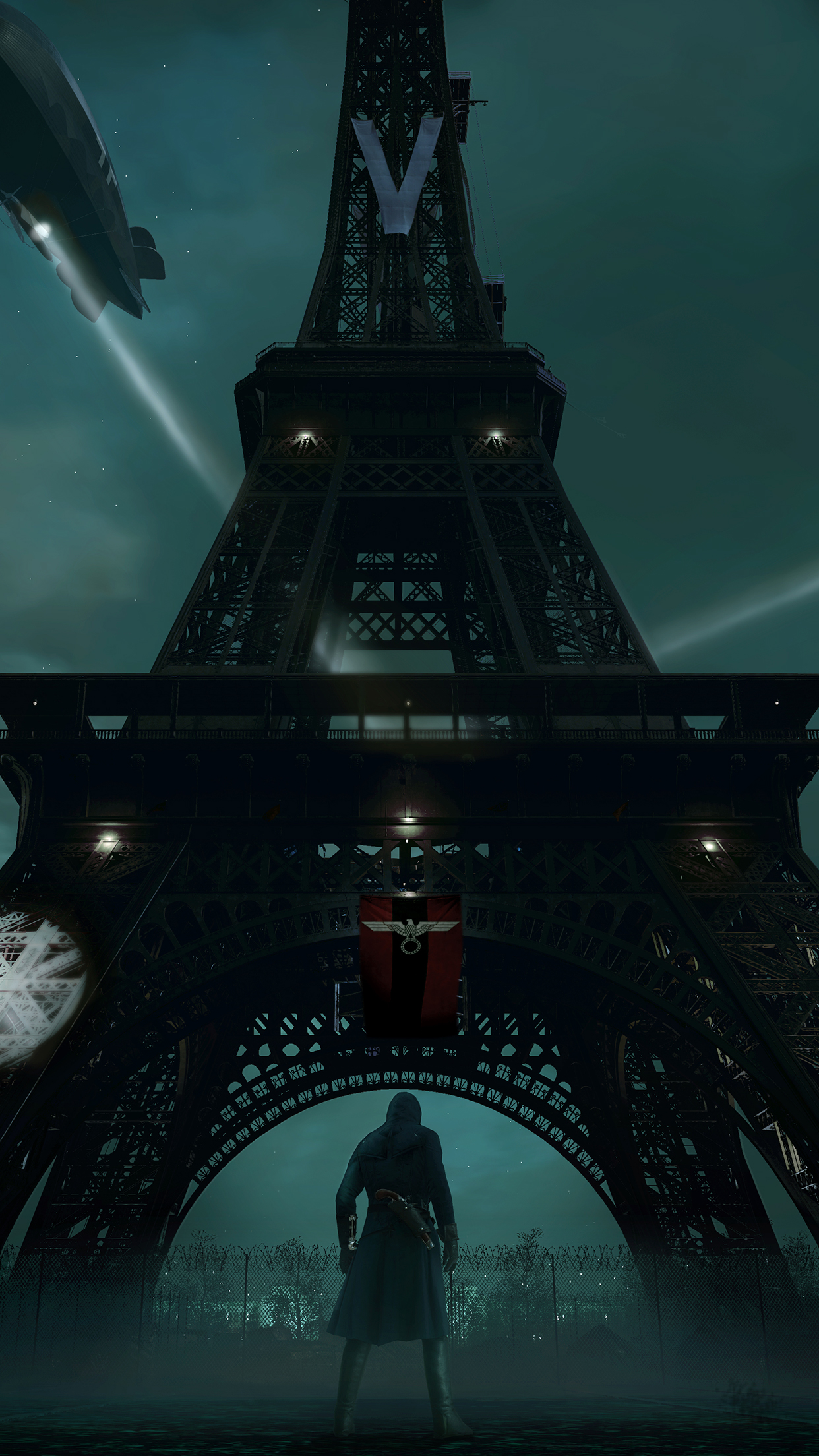 assassins creed unity eiffel tower iPhone 3Wallpapers Parallax Assassins Creed Unity Eiffel Tower