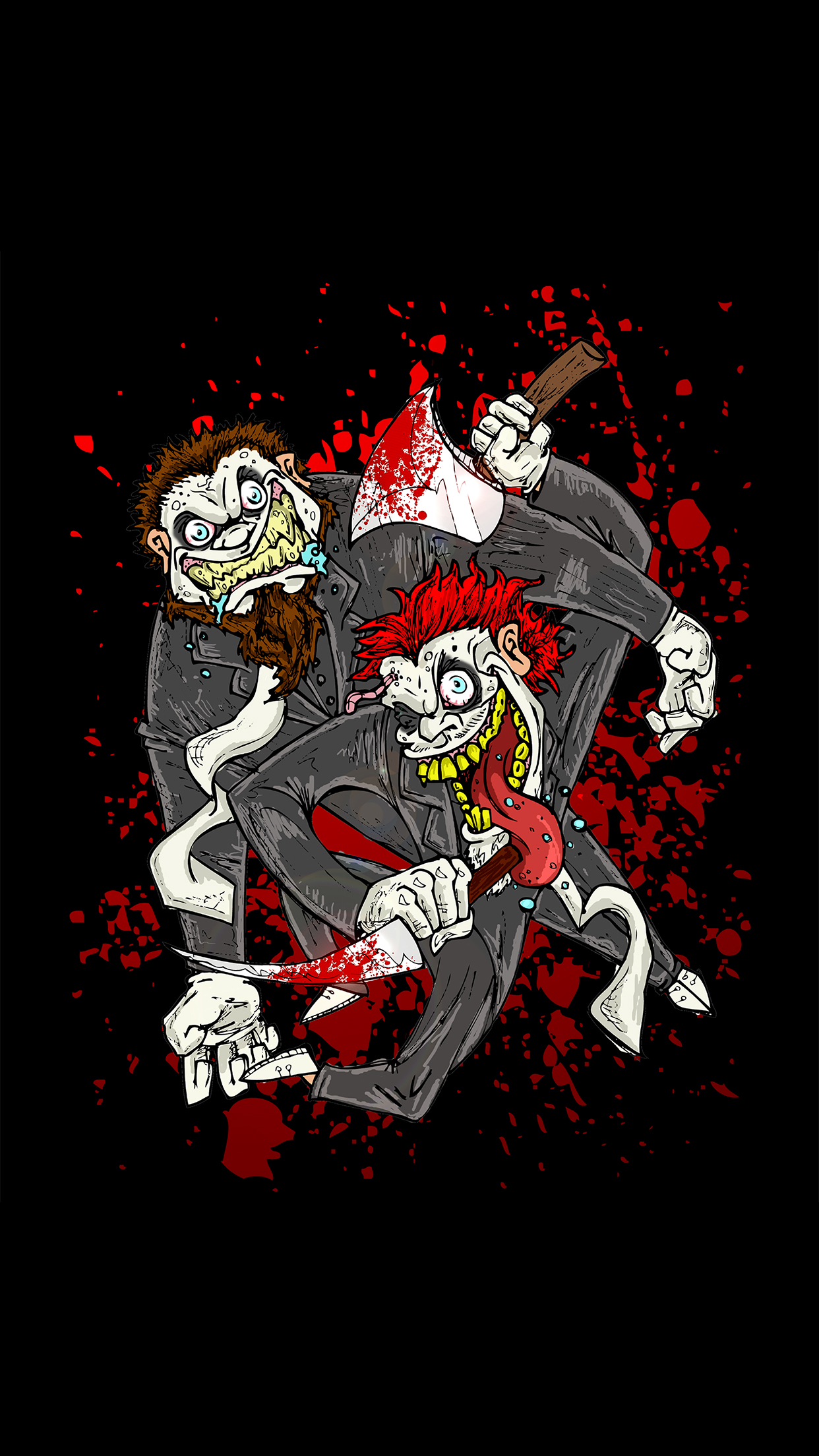 Twiztid Bloody Toons iPhone 3Wallpapers Parallax Twiztid Bloody Toons