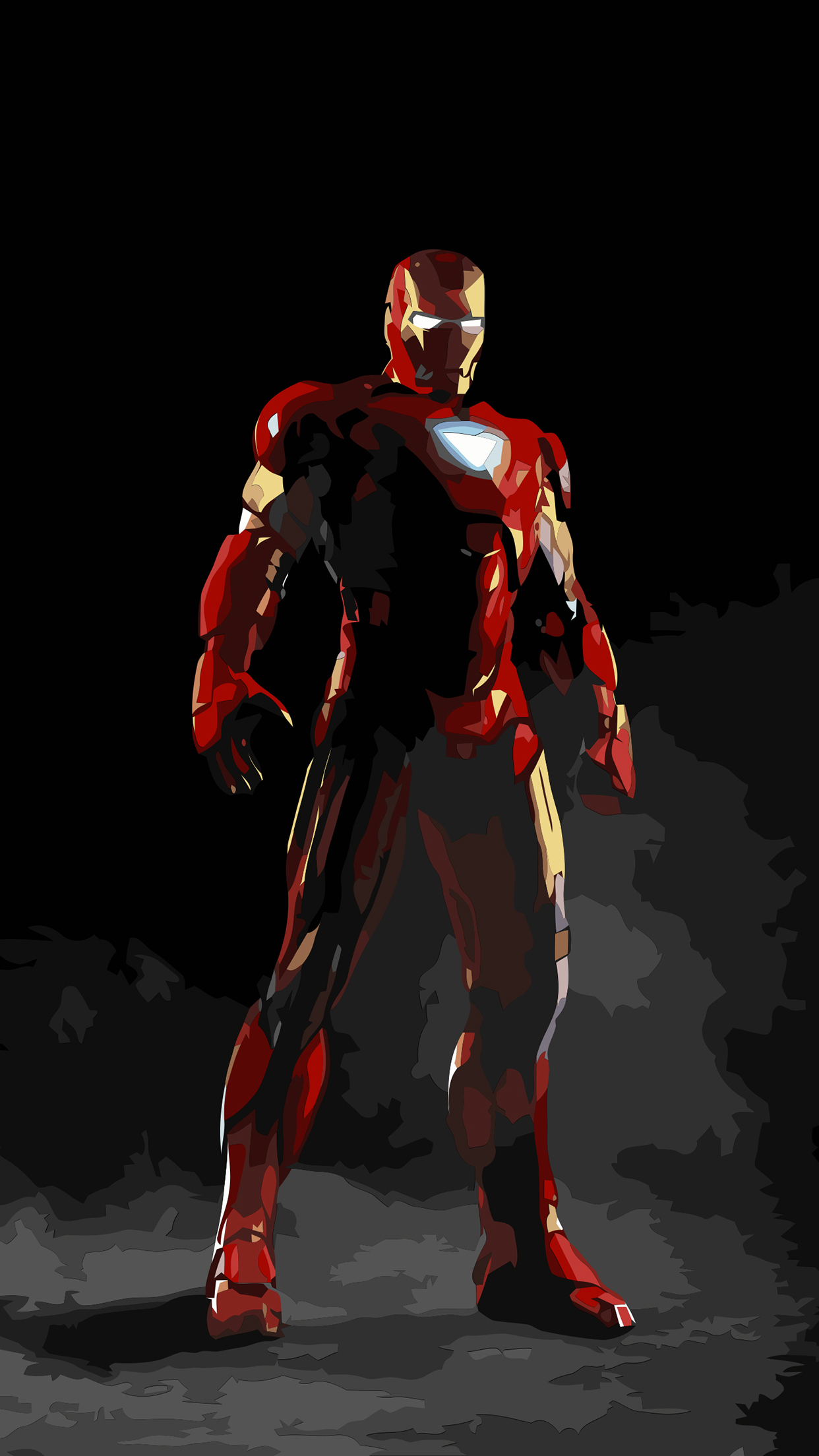Iron Man Draw iPhone 3Wallpapers Parallax Iron Man Draw