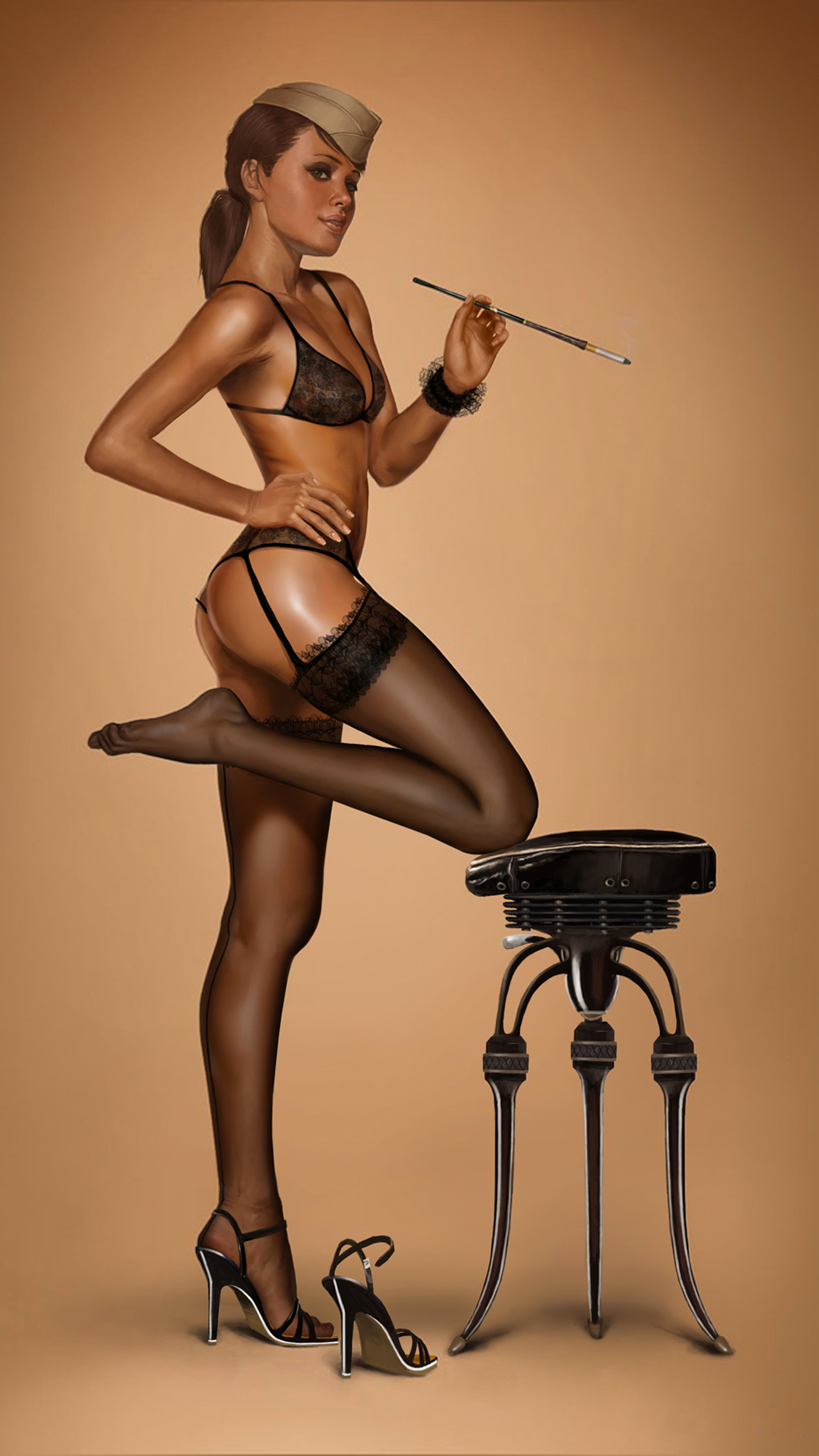 Pin Up iPhone 3Wallpapers Parallax Pin Up