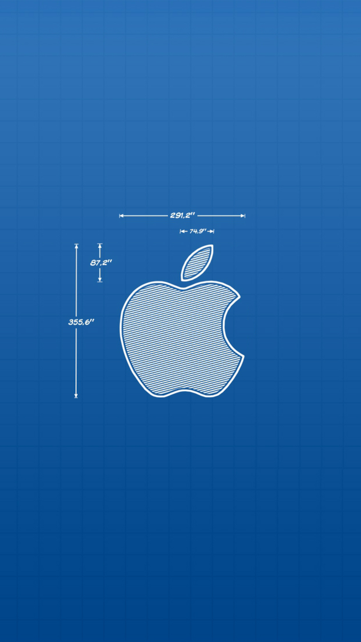 Apple Blue iPhone 3Wallpapers Parallax Apple Blue