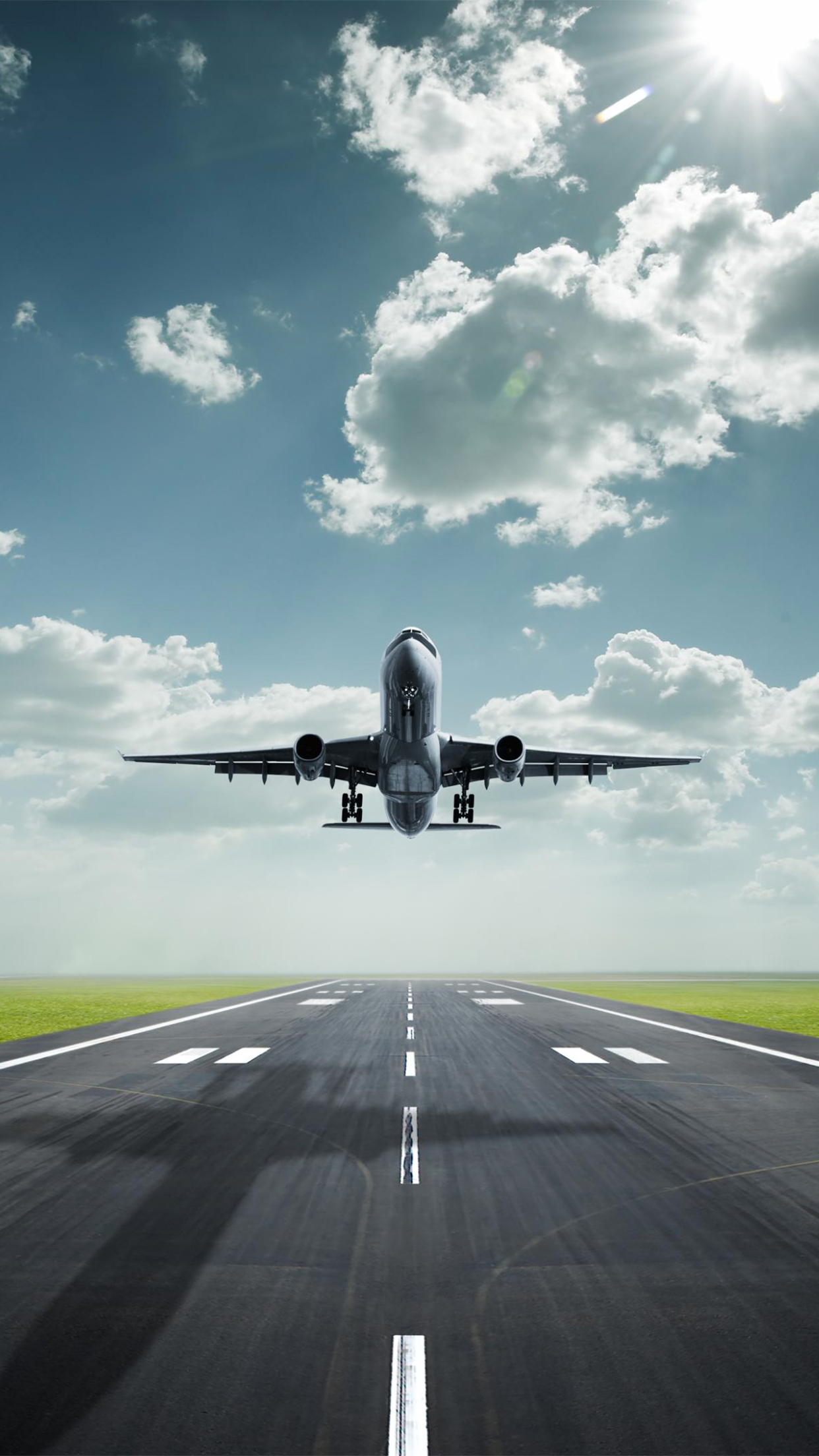 Plane Airport 3Wallpapers iPhone Parallax Plane Airport
