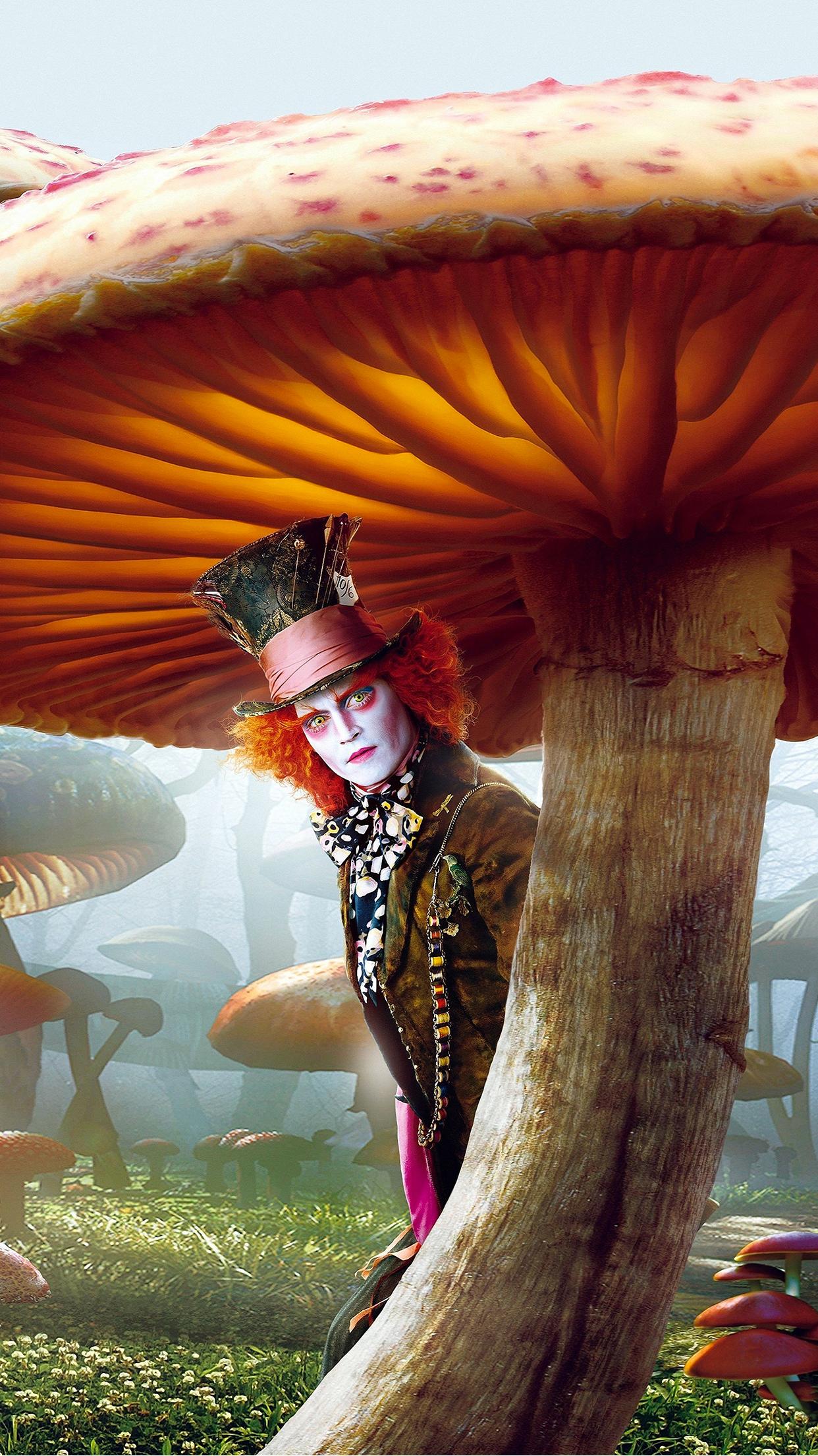 Alice in Wonderland depp mad hatter 3Wallpapers iPhone Parallax Alice in Wonderland depp mad hatter
