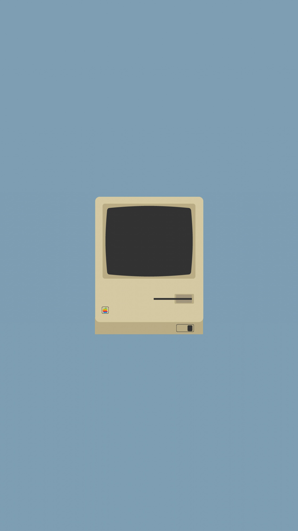 Apple Old Mac 3Wallpapers iPhone Parallax Apple Old Mac