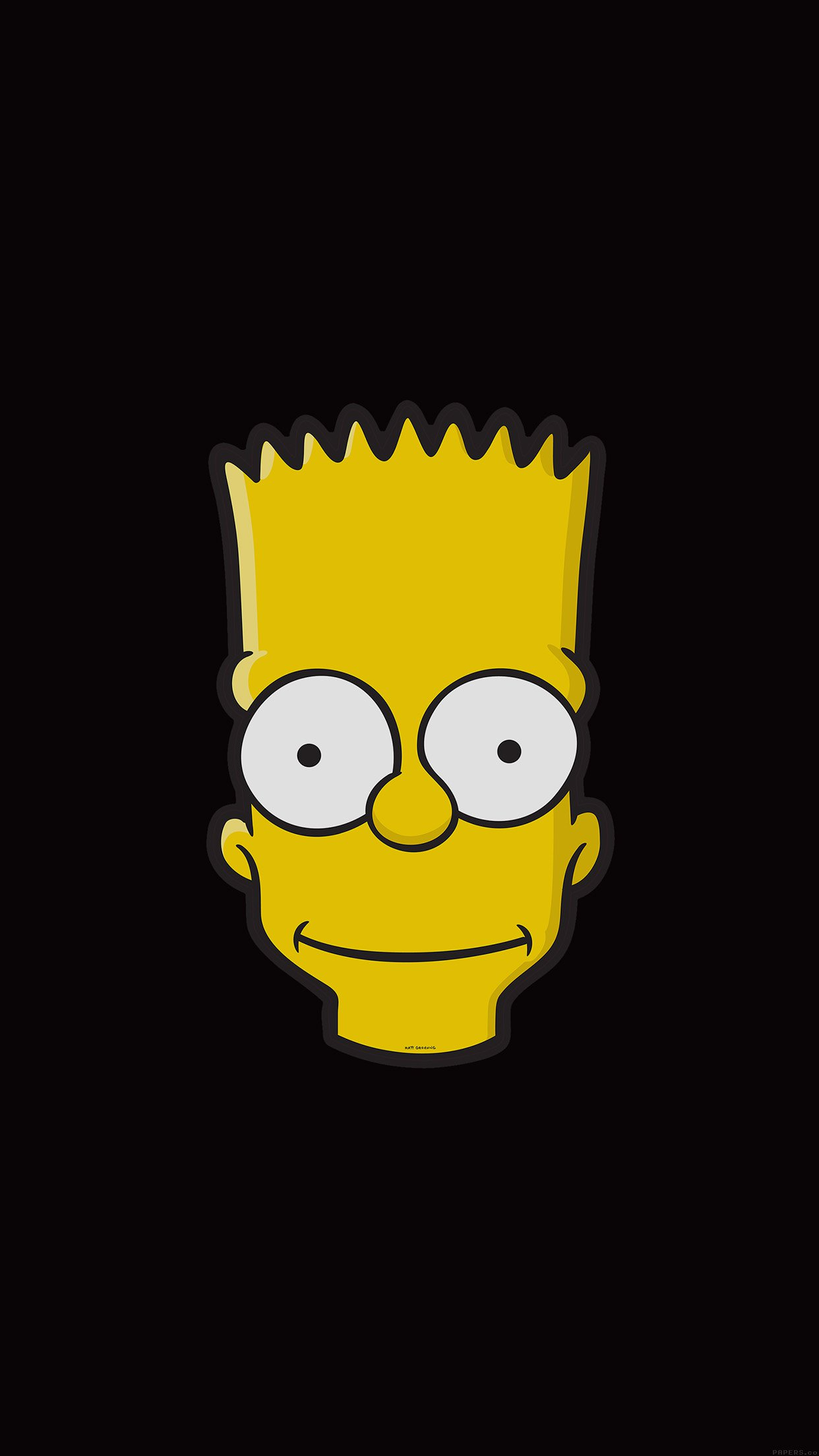 simpsons bart 3Wallpapers iPhone Parallax Simpsons Bart