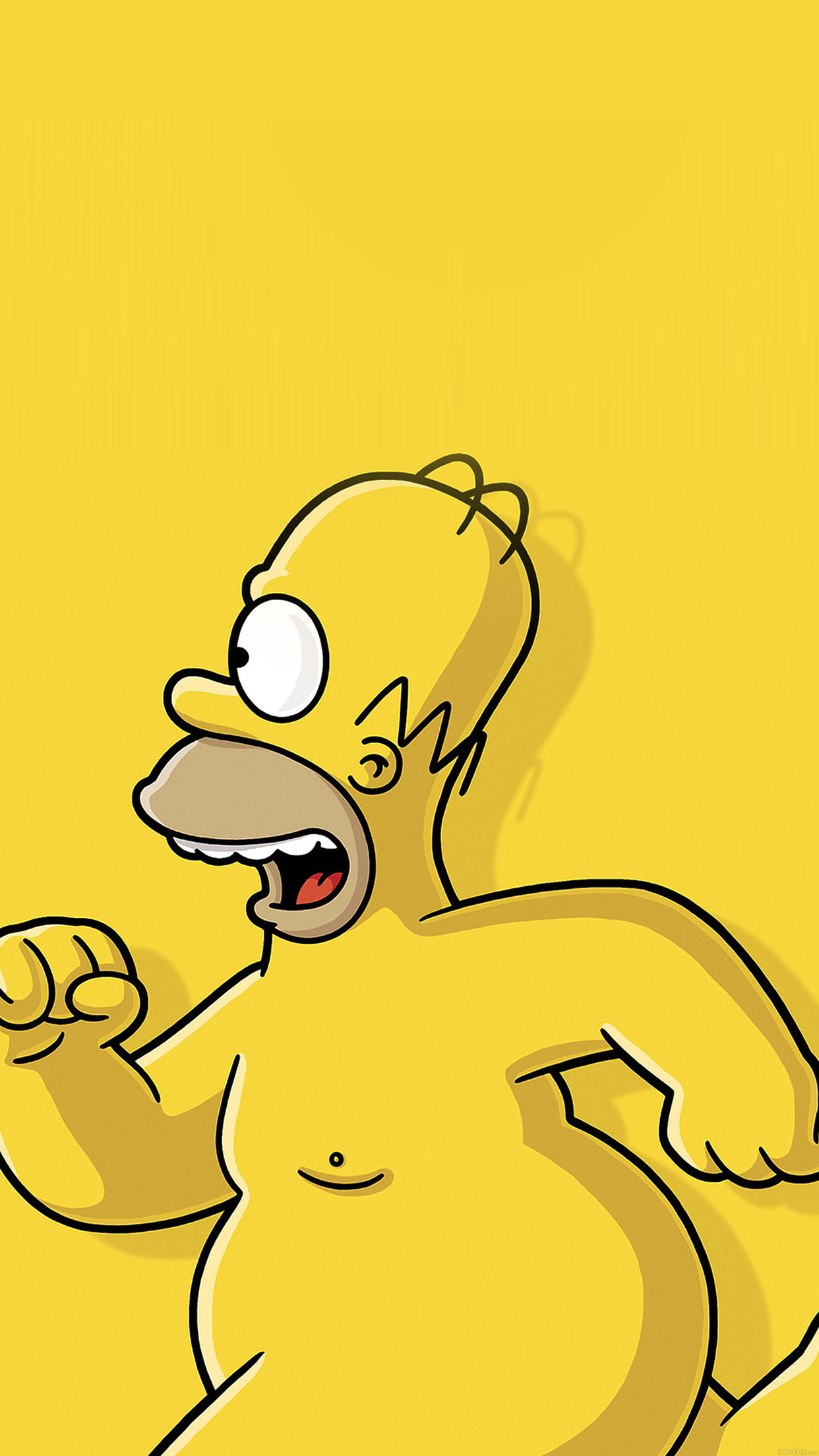 simpsons homer 3Wallpapers iPhone Parallax Simpsons Homer