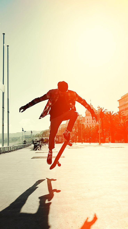 skate jump 3Wallpapers iPhone Parallax Skate Jump