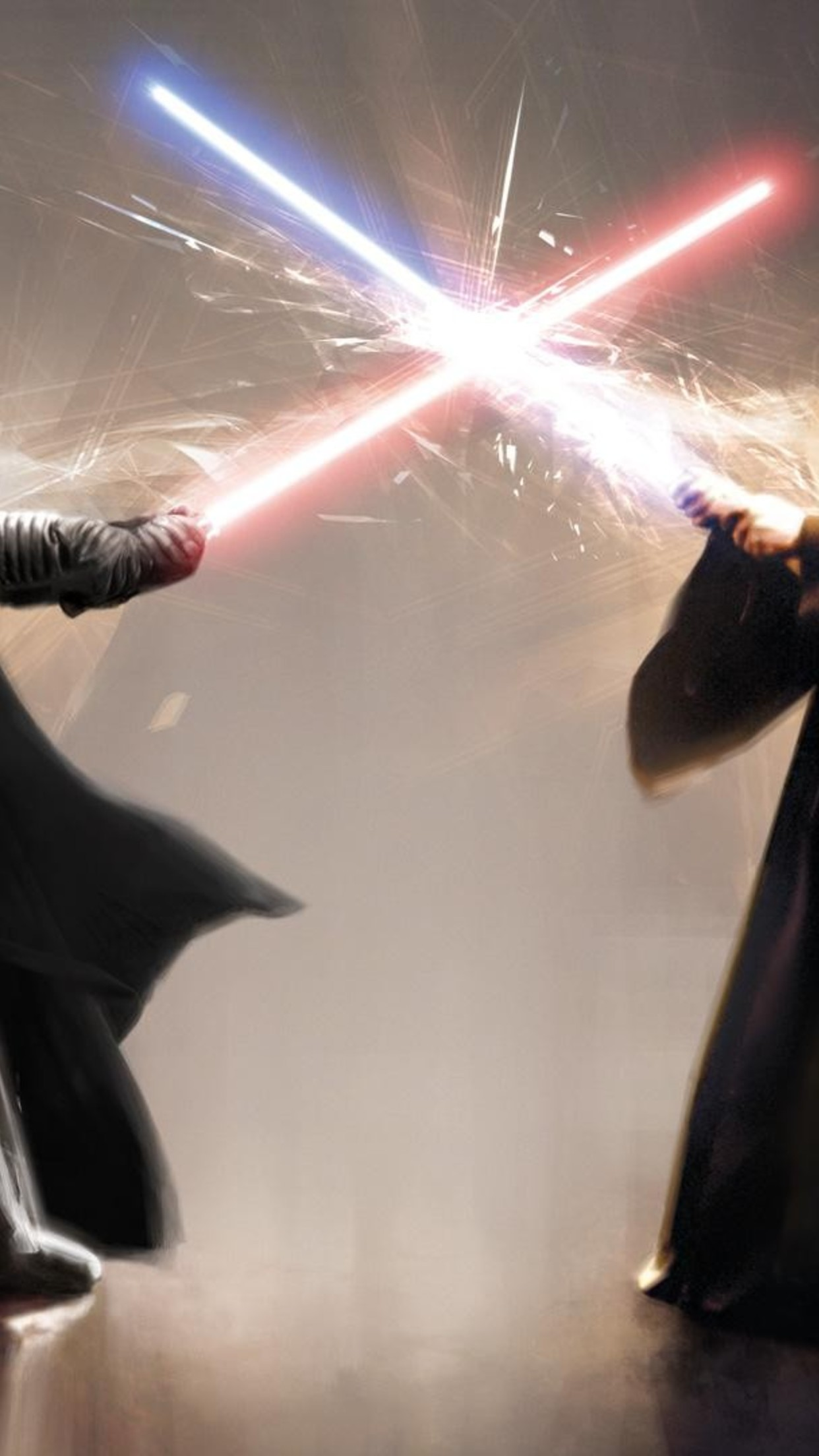 star wars sabre laser 3Wallpapers iPhone Parallax Star Wars Fight