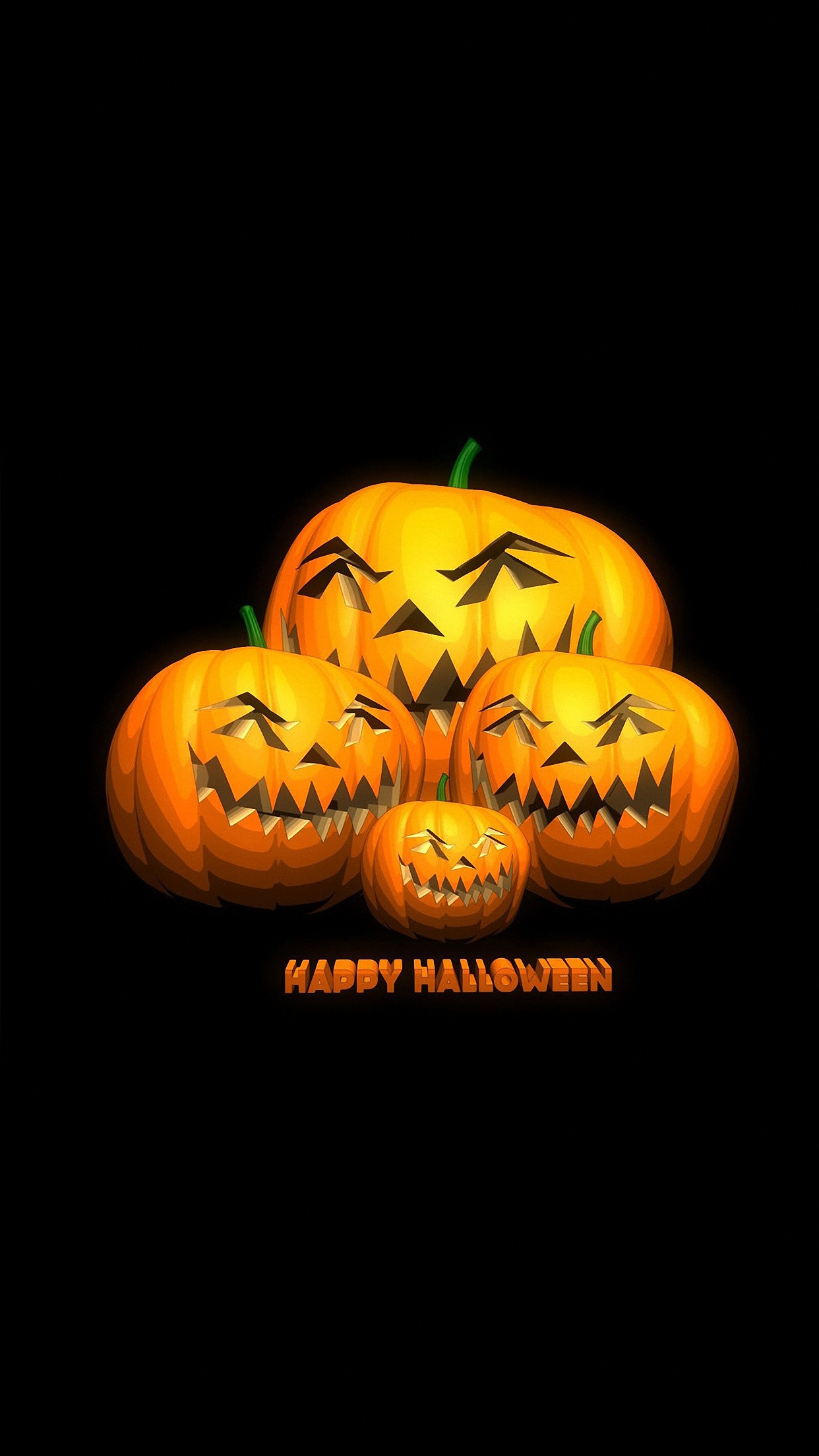 halloween citrouille 2 3Wallpapers iPhone Parallax Halloween Pumpkin 2
