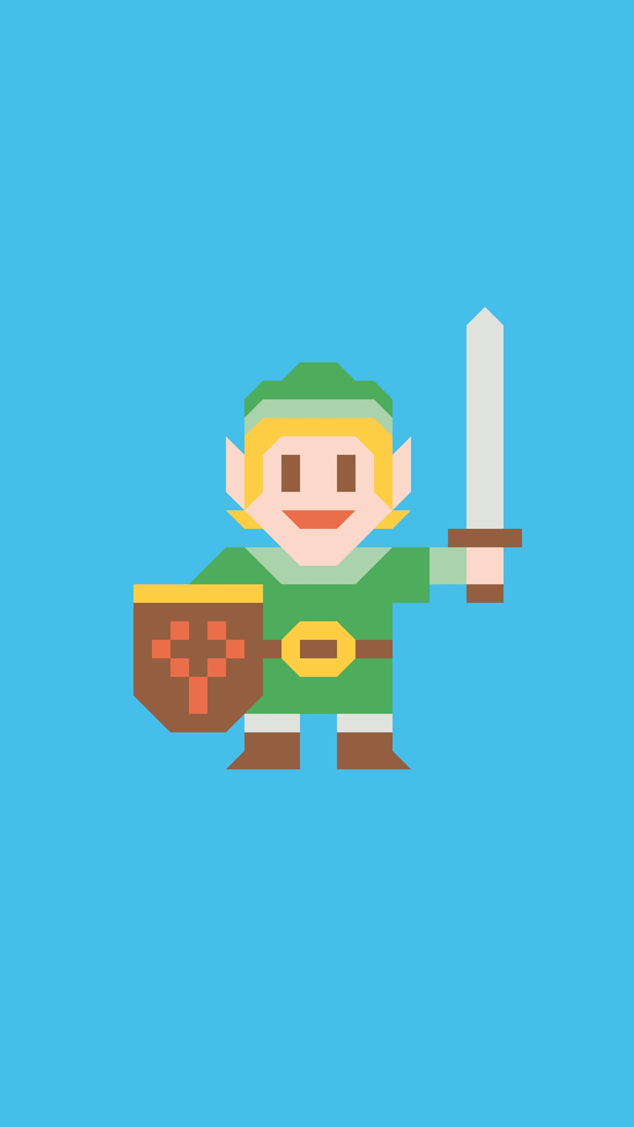 link 8 bits 3Wallpapers iPhone Parallax Link 8 Bits