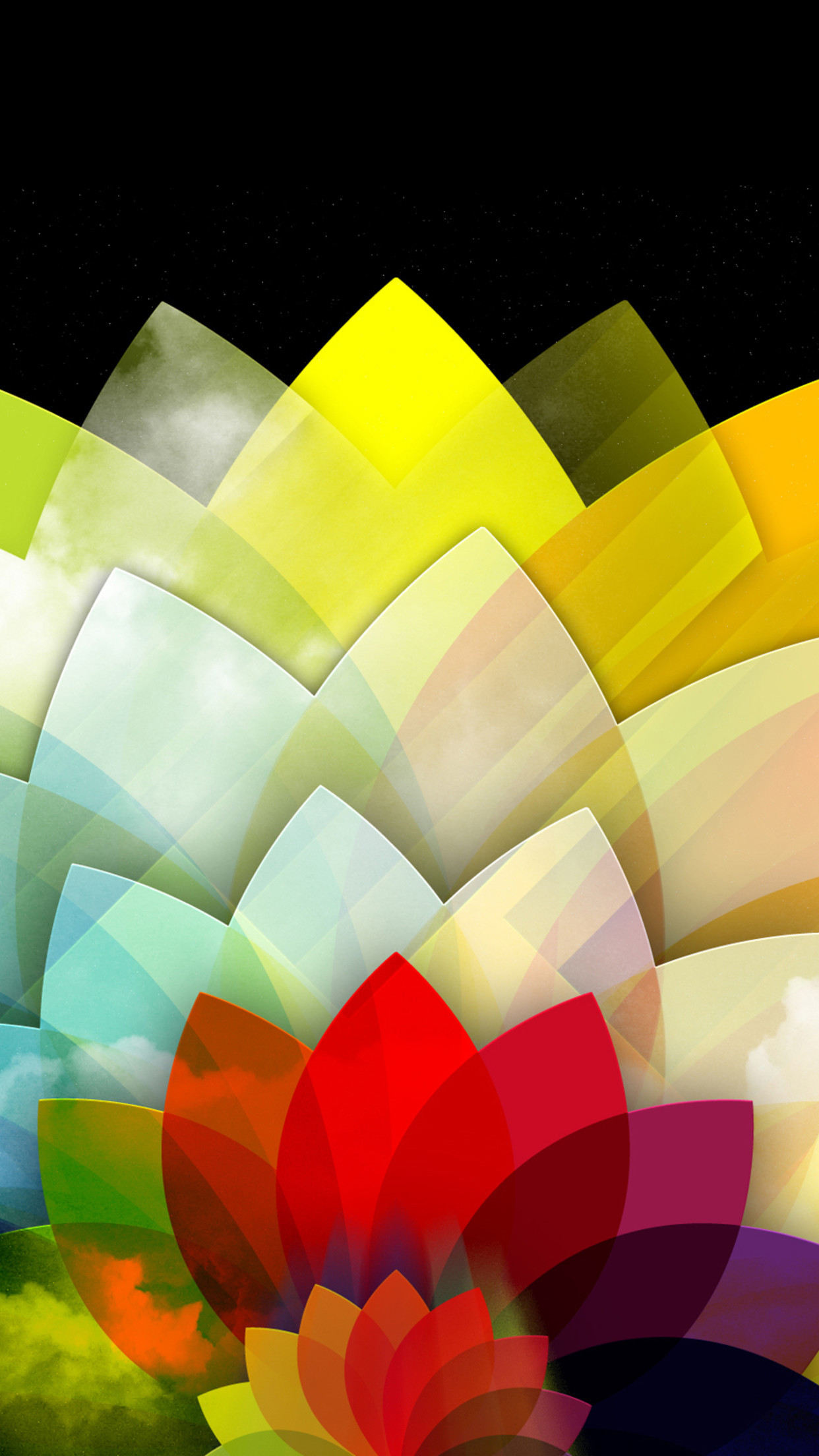 abstract colorful 3Wallpapers iPhone Parallax Abstract Colorful