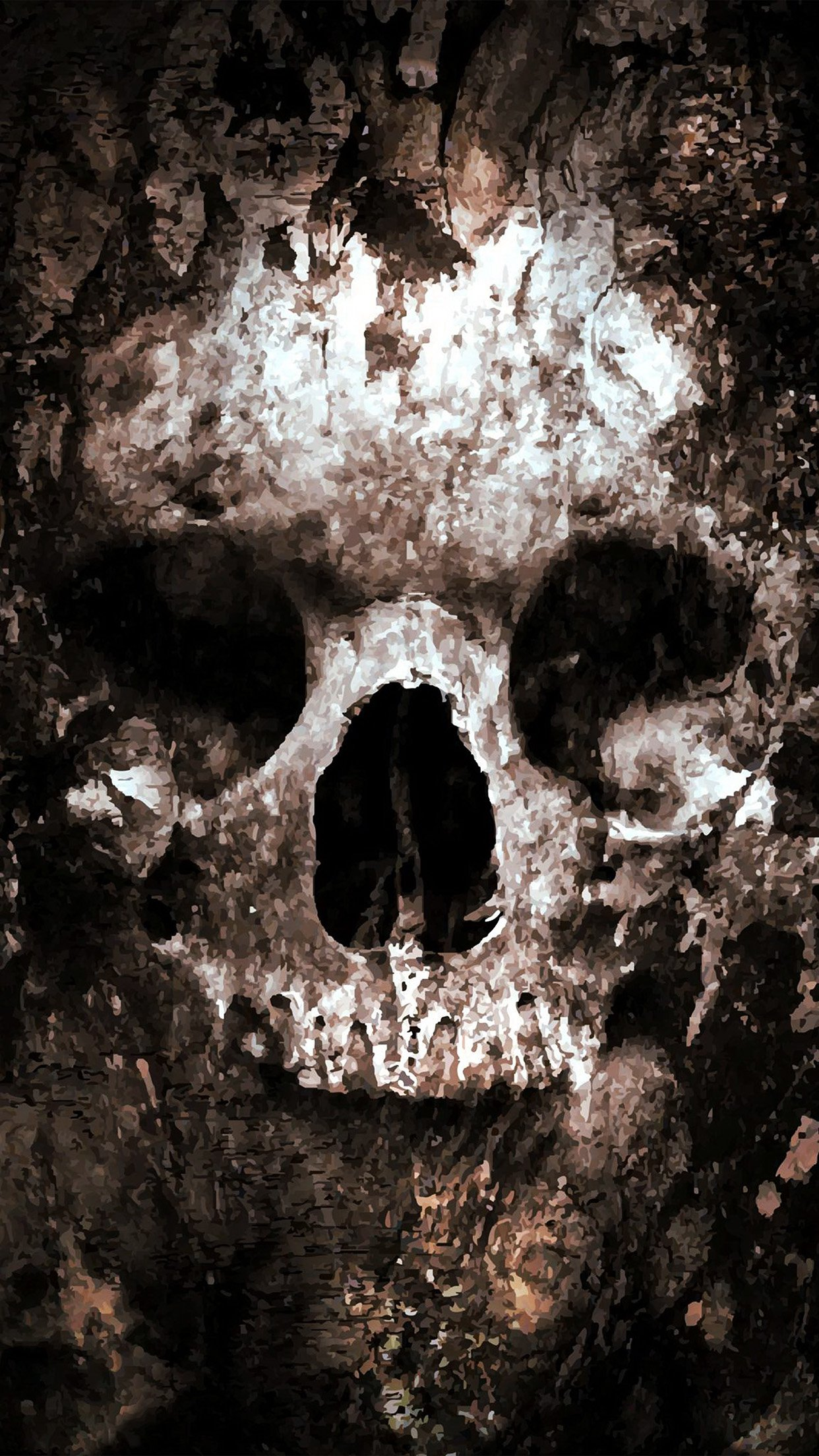 Skull Face paint 3Wallpapers iPhone Parallax Skull: Face paint