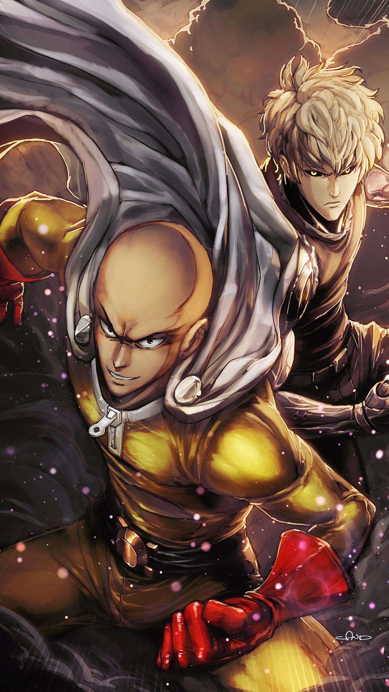 One Punch Man Acting 3Wallpapers iPhone Parallax One Punch Man : Acting