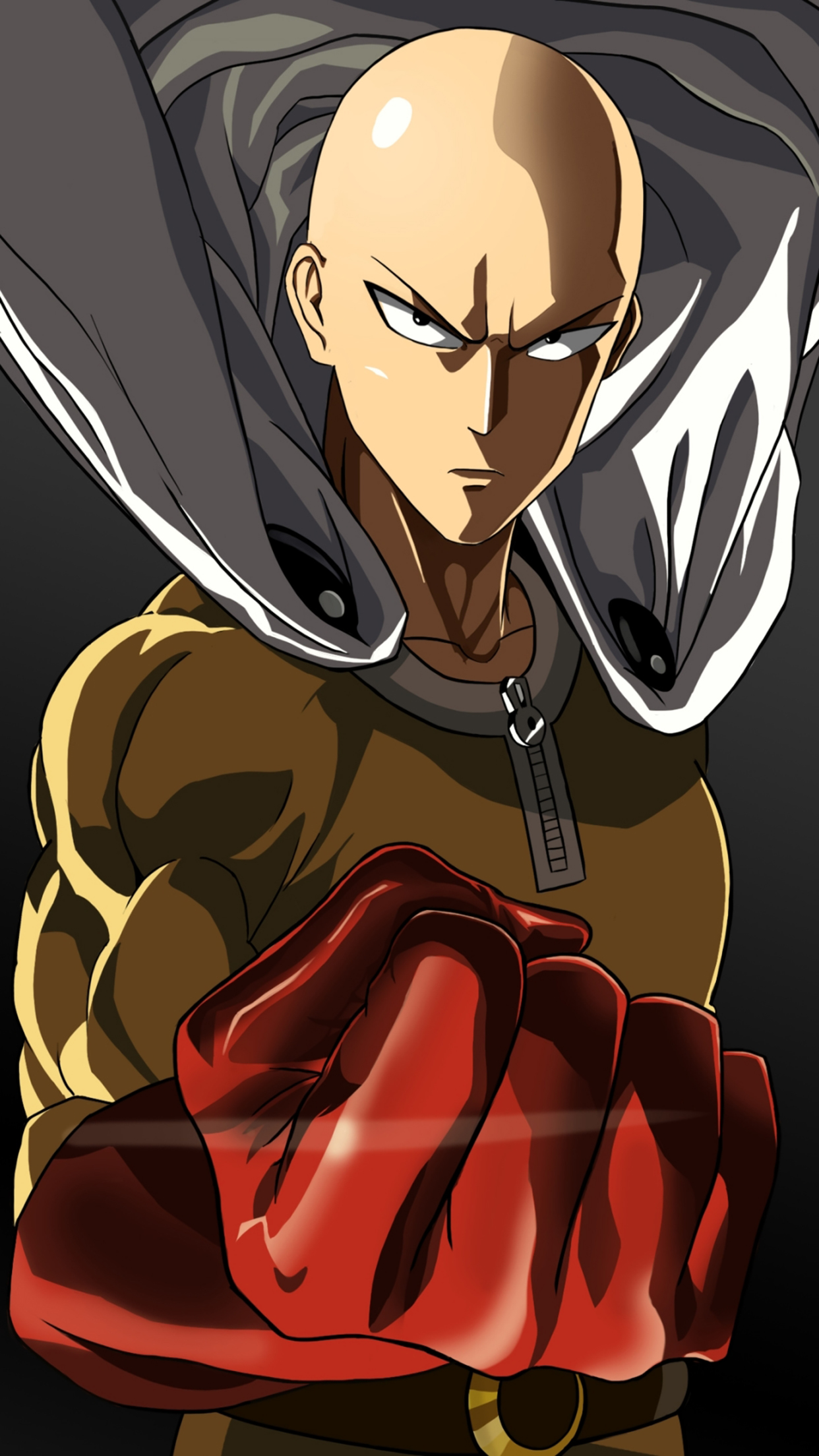 One Punch Man Standing 3Wallpapers iPhone Parallax One Punch Man : Standing