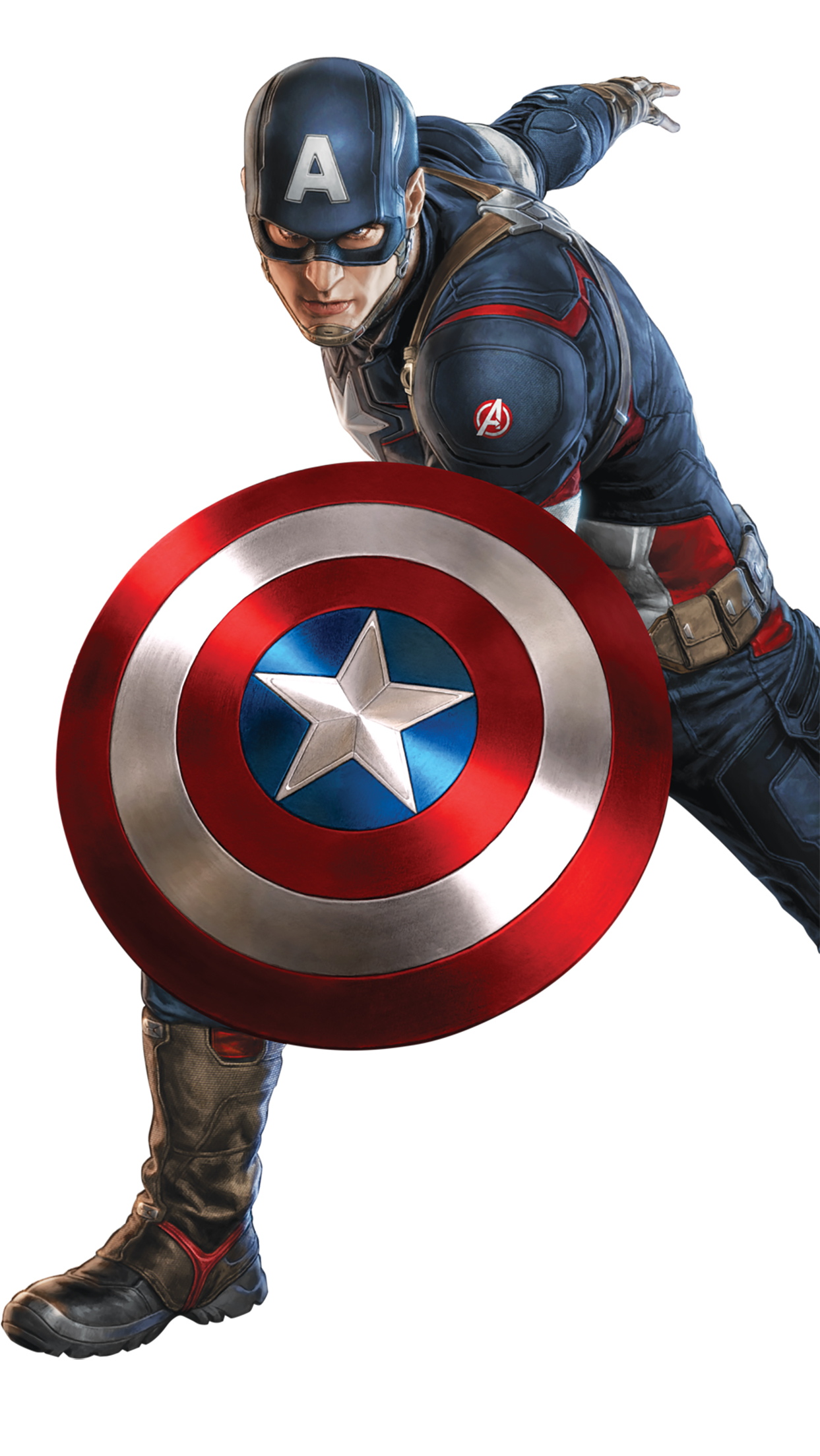 Captain America Acting 3Wallpapers iPhone Parallax Captain America : Acting