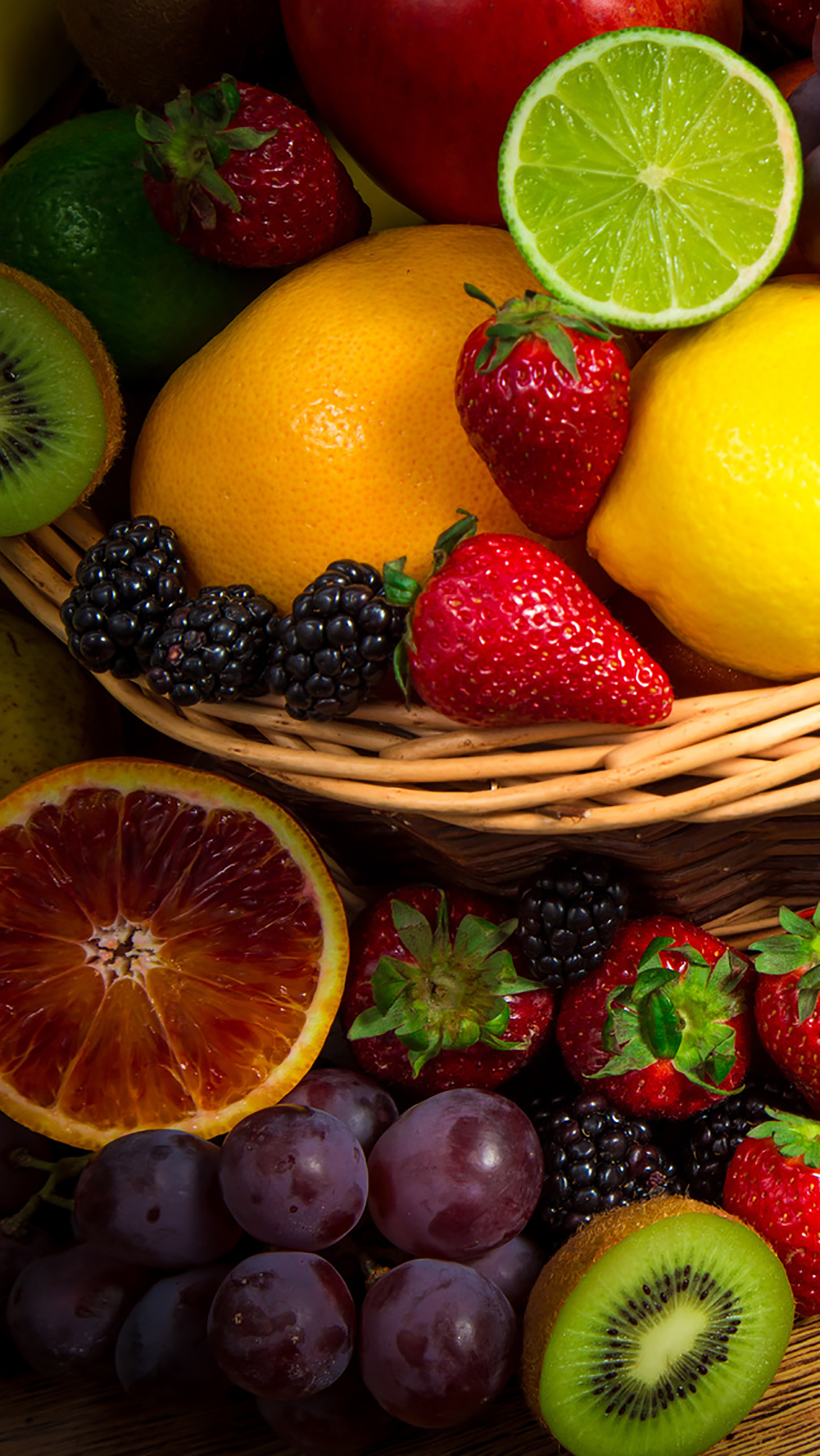 Fruit Fresh fruits 3Wallpapers iPhone Parallax Fruit : Fresh Fruits