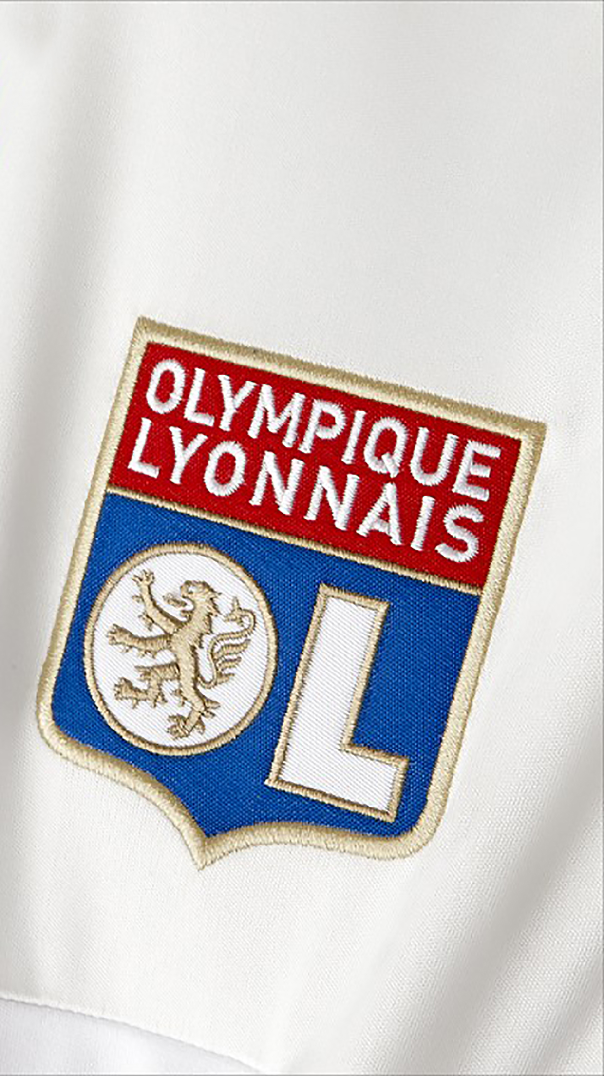 Olympique Lyonnais Logo 1 3Wallpapers iPhone Parallax Olympique Lyonnais : Logo 1
