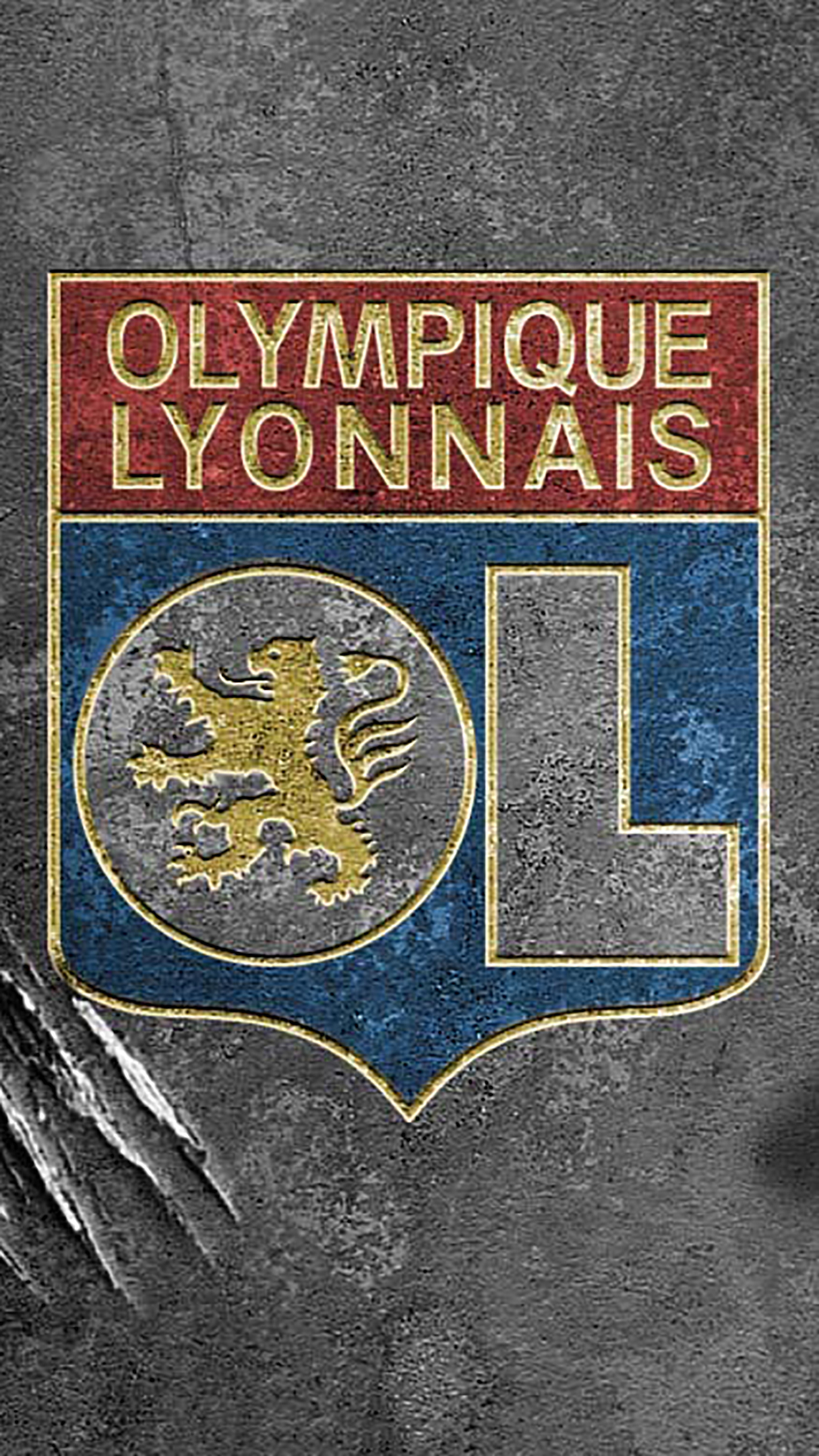 Olympique Lyonnais Logo 2 3Wallpapers iPhone Parallax Olympique Lyonnais : Logo 2