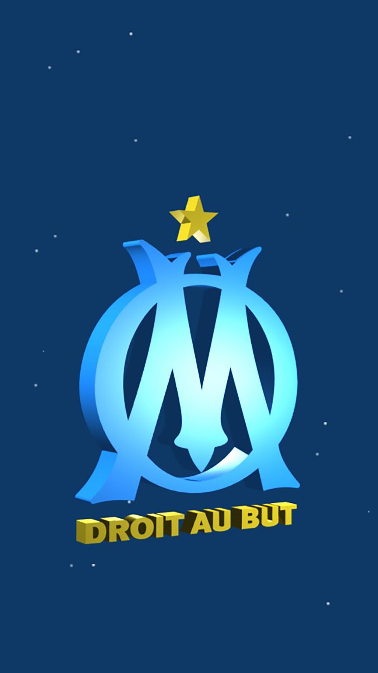 Olympique de Marseille Logo 3 3Wallpapers iPhone Parallax Olympique de Marseille : Logo 3