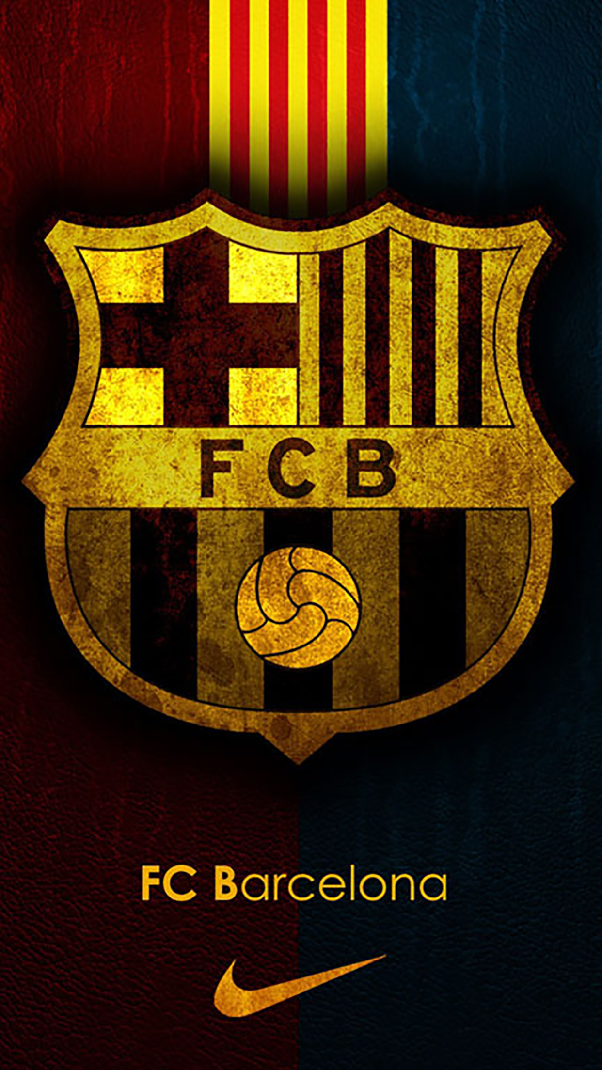 FC Barcelone Logo 1 3Wallpapers iPhone Parallax FC Barcelone : Logo 1