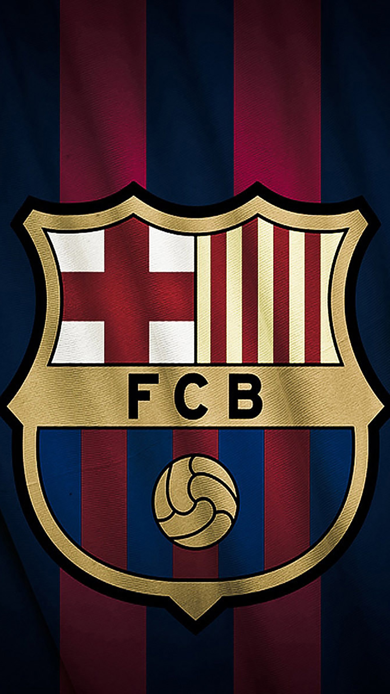 FC Barcelone Logo 2 3Wallpapers iPhone Parallax FC Barcelone : Logo 2