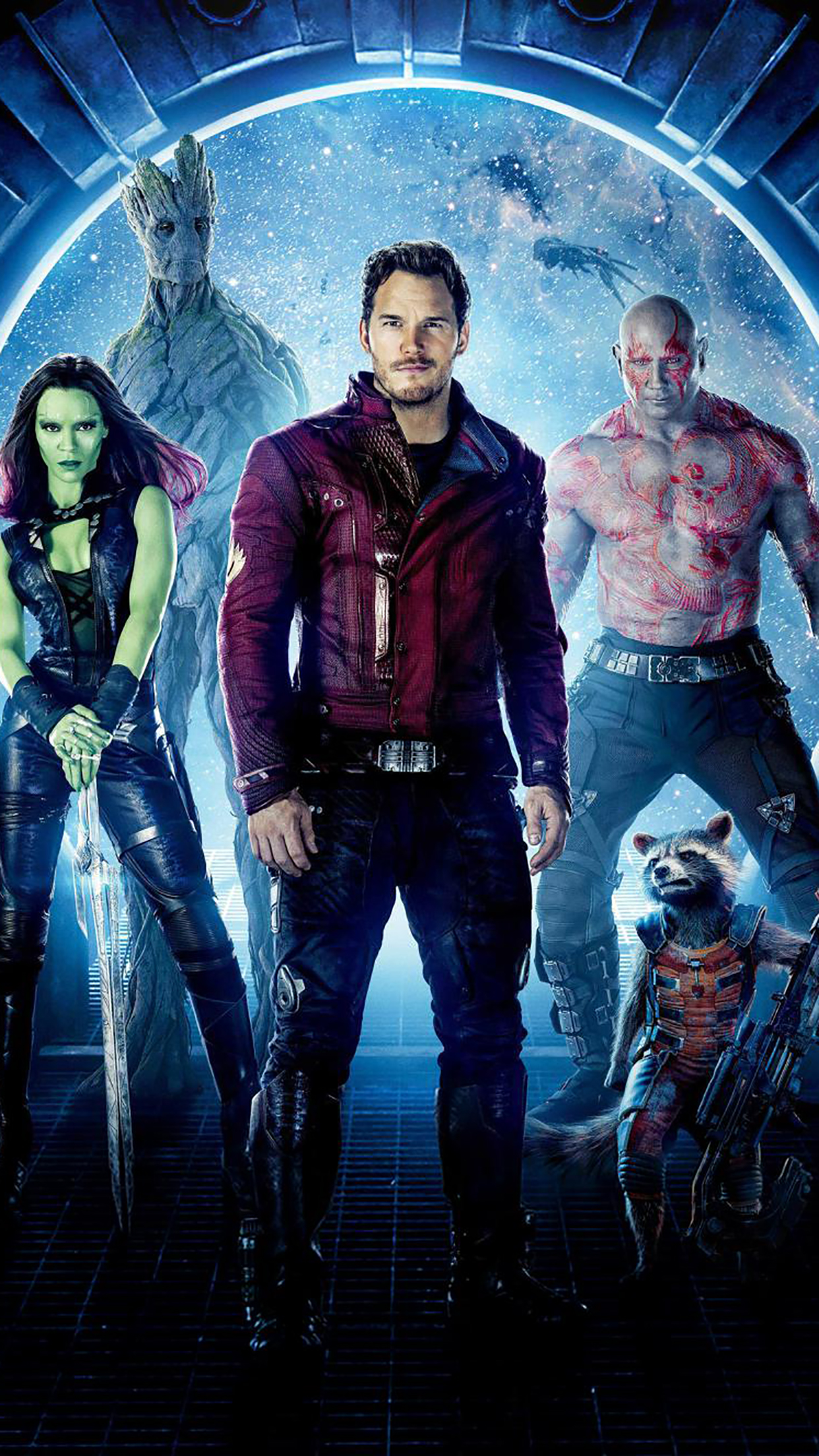 Guardians Of The Galaxy Poster 1 3Wallpapers iPhone Parallax Guardians Of The Galaxy : Poster 1