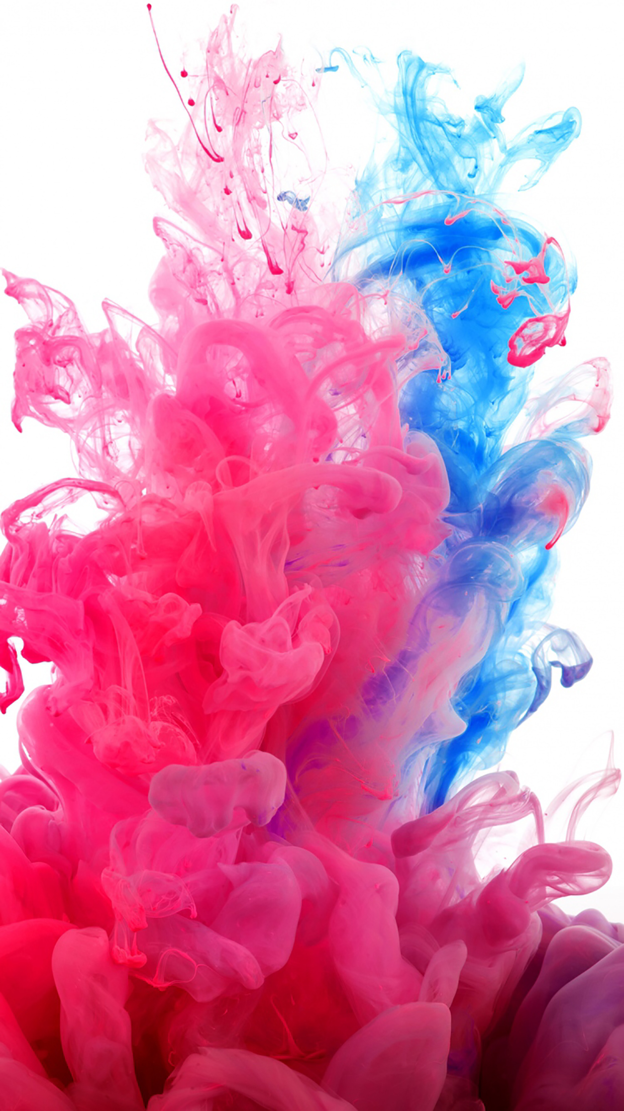 Ink Pink And Blue 3Wallpapers iPhone Parallax Ink : Pink And Blue