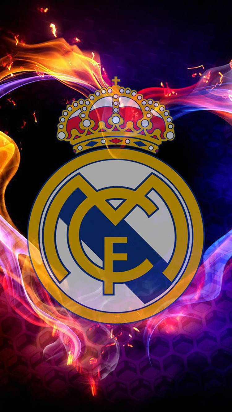 Real Madrid : Logo 2 Wallpaper for iPhone 11, Pro Max, X ...