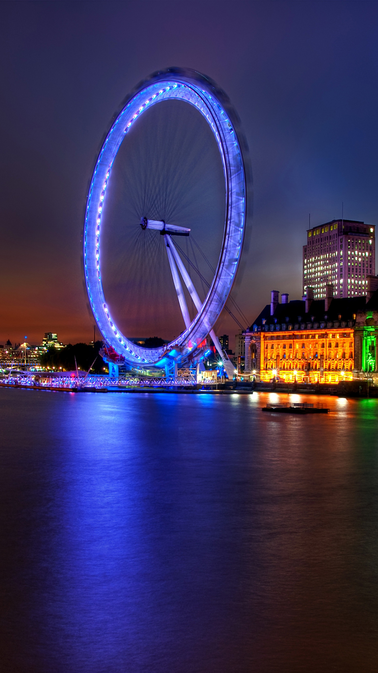 Londres Wheel 3Wallpapers iPhone Parallax Londres : Wheel