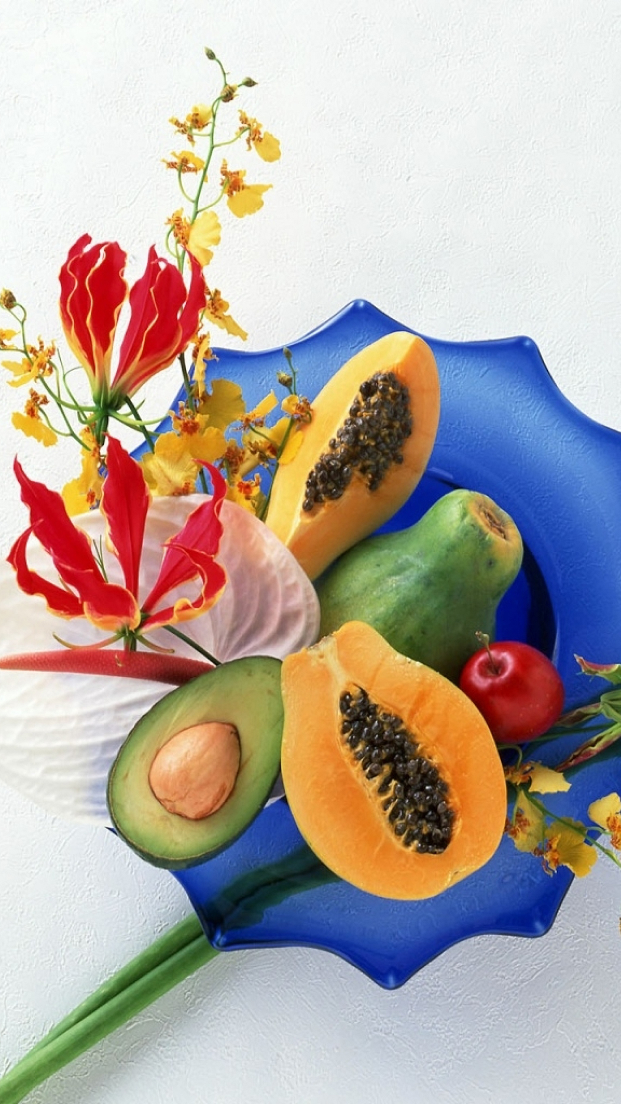 Fruits Dishes Fruits 3Wallpapers iPhone Parallax Fruits : Dishes Fruits