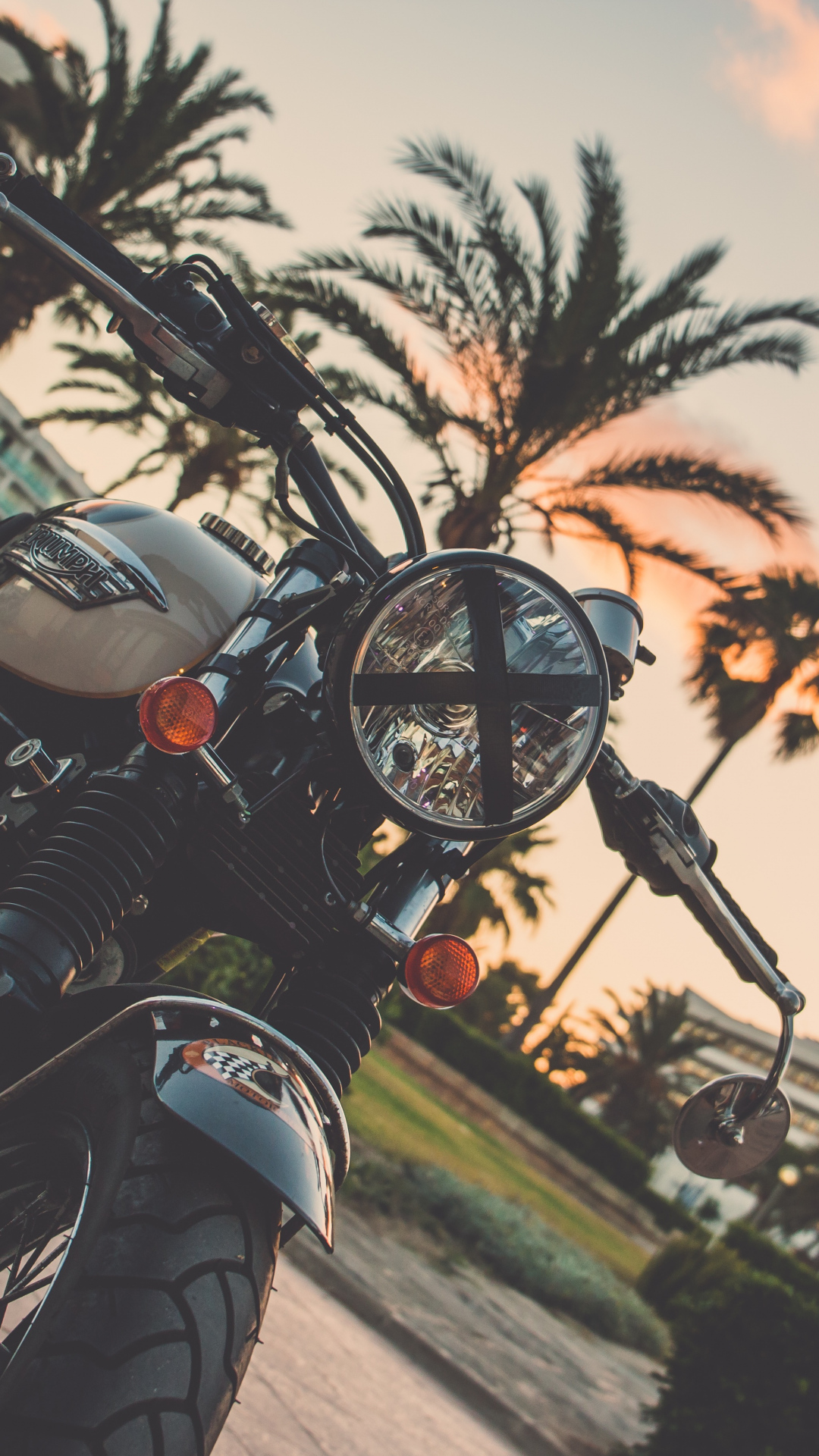 iphone wallpaper motorcycle bike palm tree Motorbike