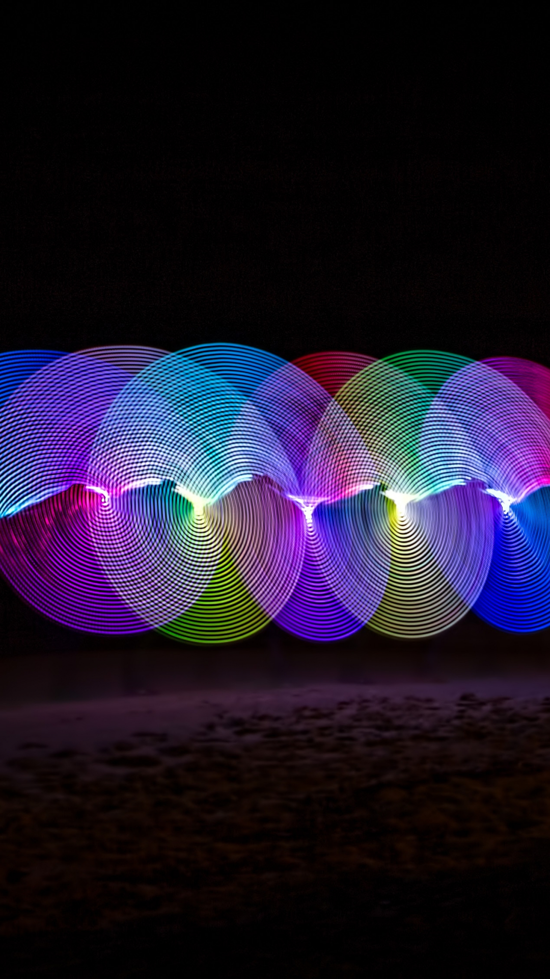 iphone wallpaperCircles Of Light Abstract
