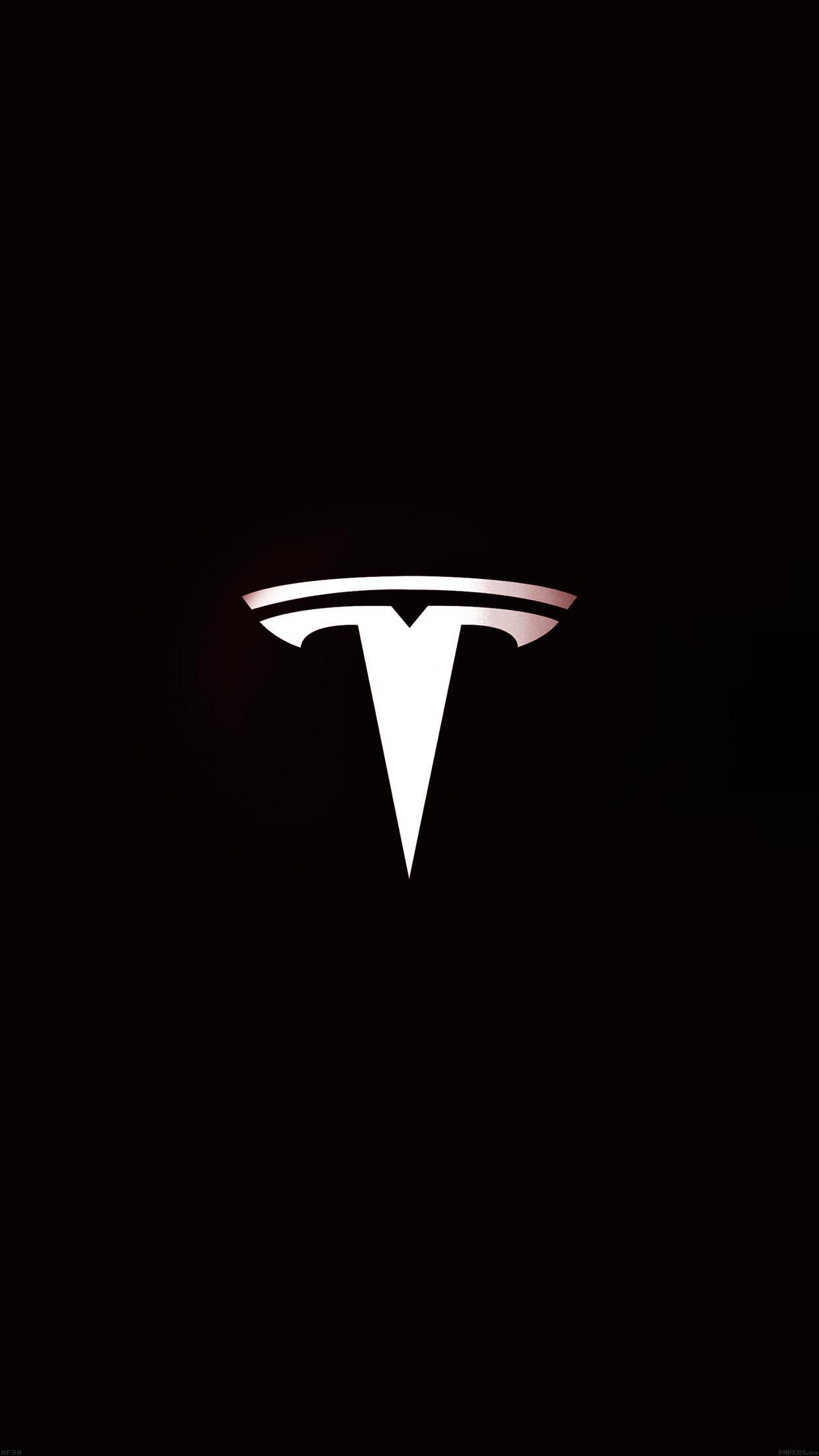 iPhone wallpaper Tesla Motors Logo Dark Tesla