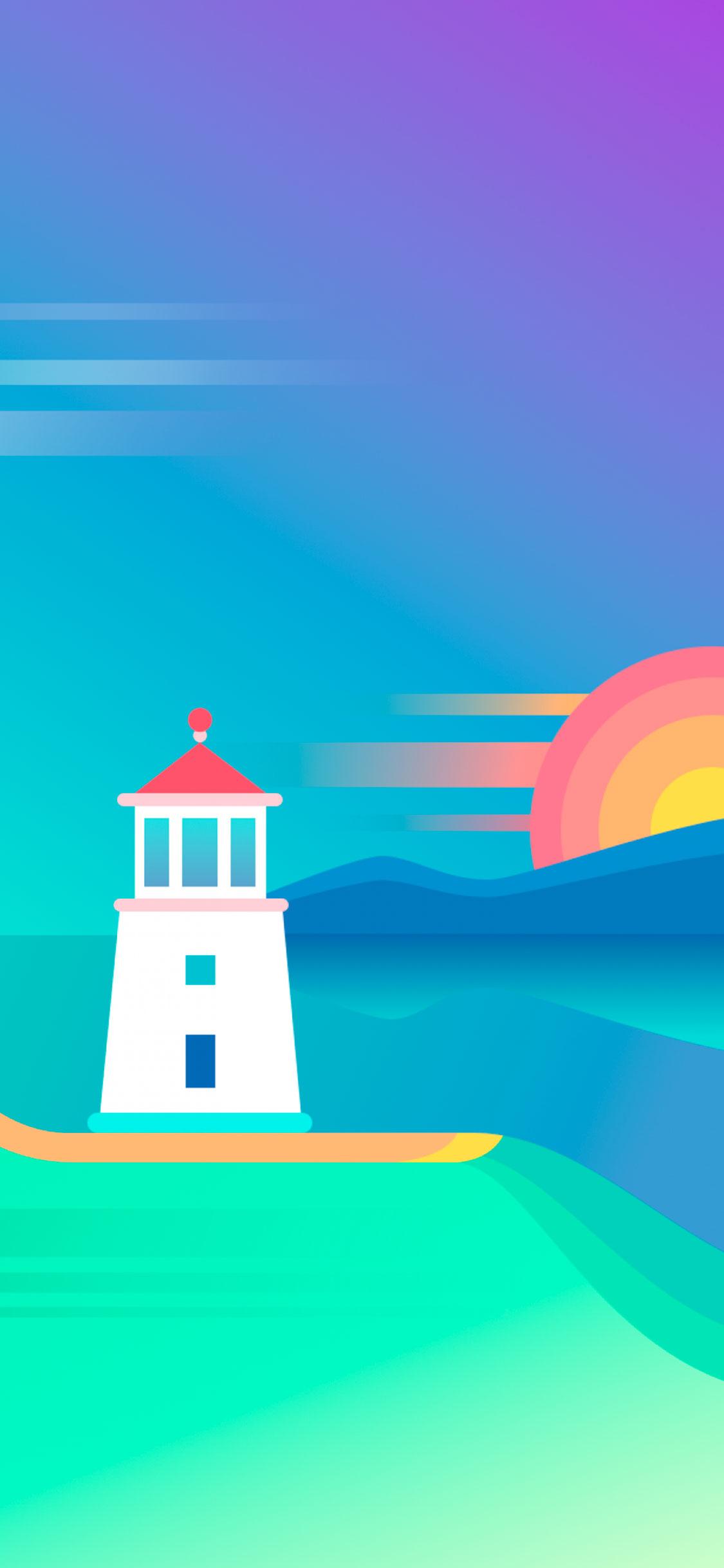 iPhone wallpaper illustration lighthouse Illustration