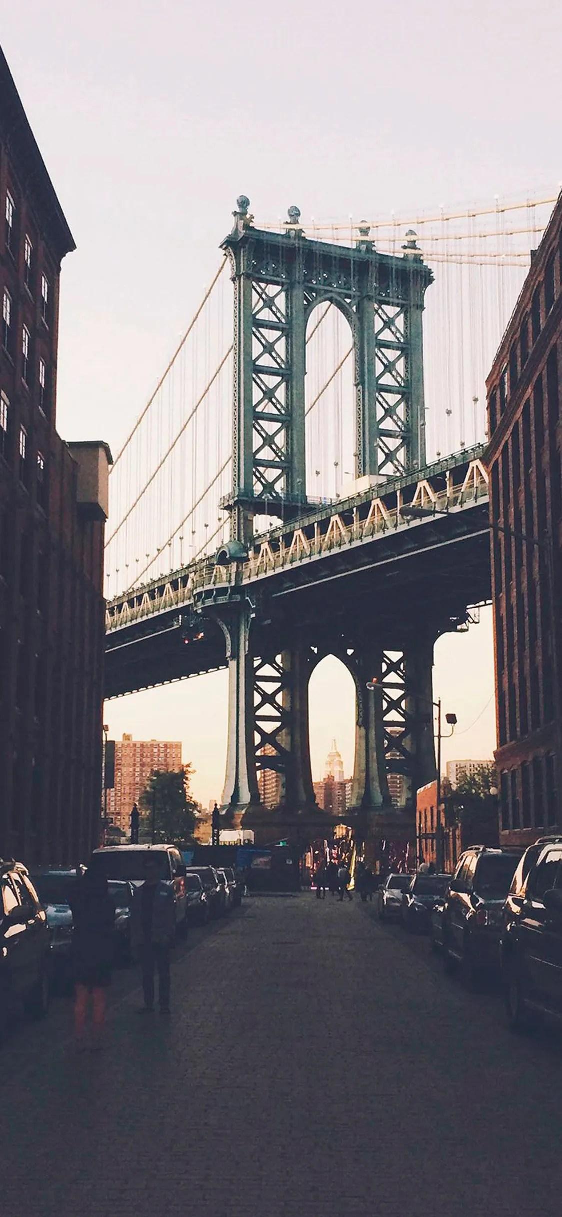 iPhone wallpaper new york bridge New York