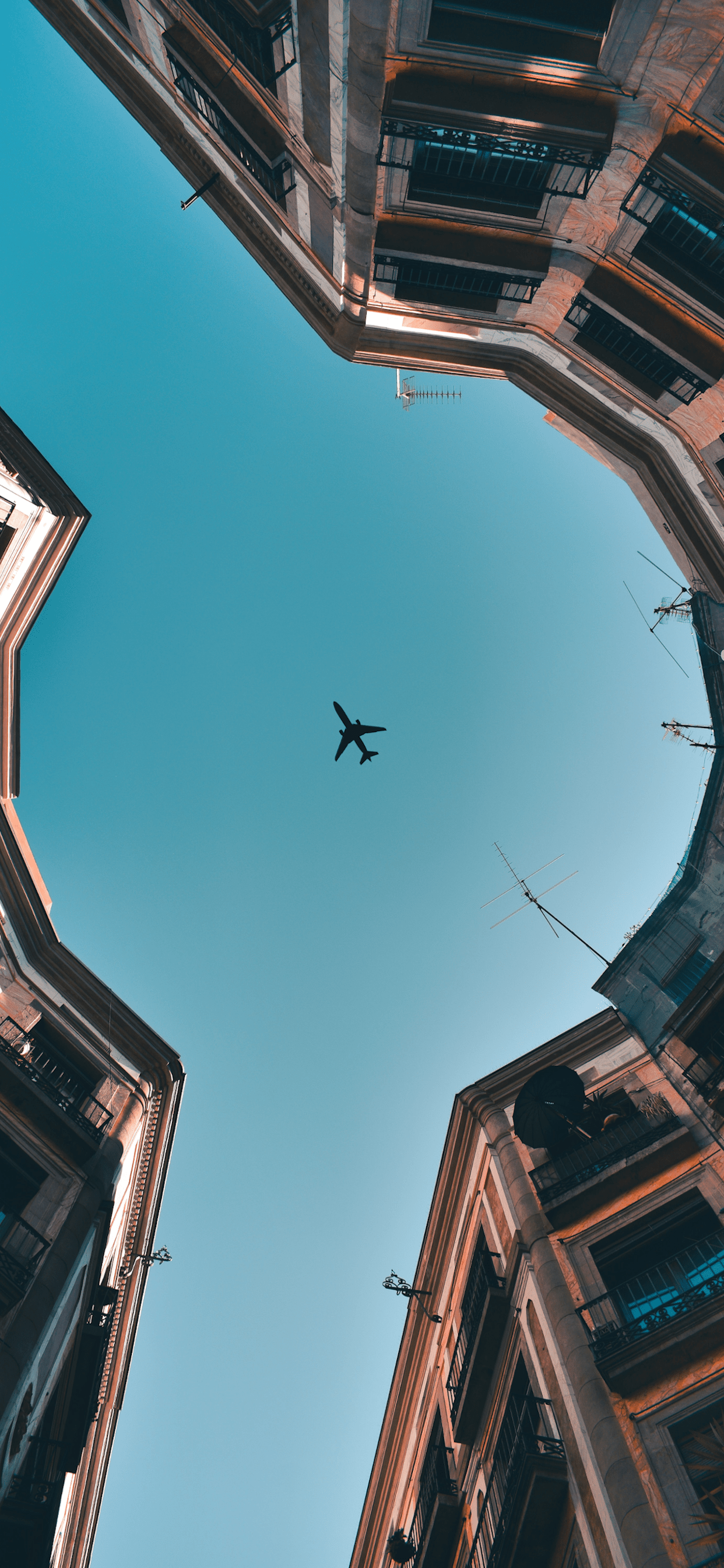 iPhone wallpapers airplane barcelona Airplane
