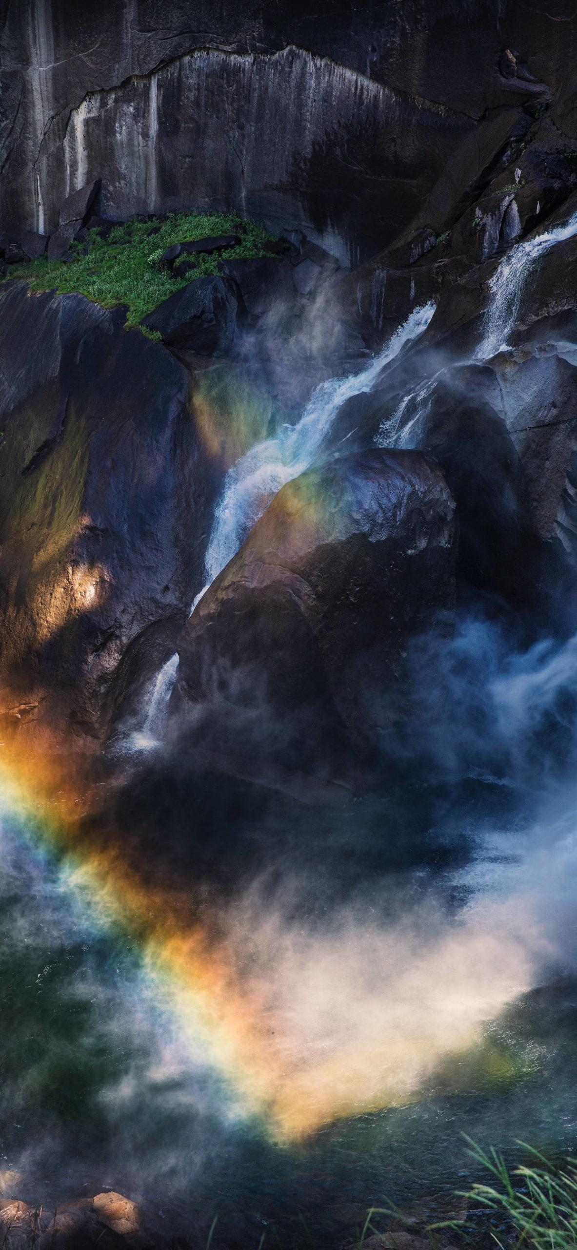 iPhone wallpapers waterfall rainbow usa scaled Waterfall