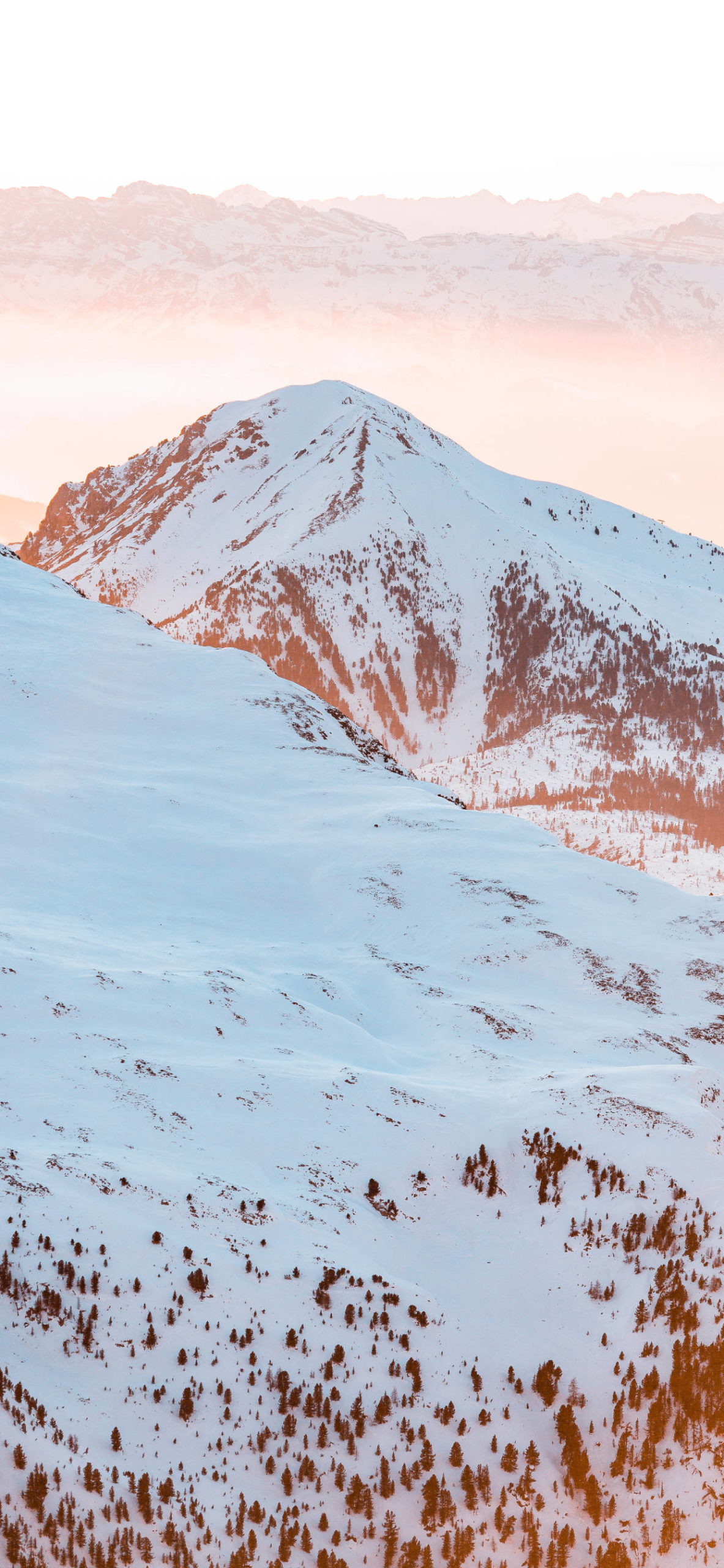 iPhone wallpapers mountain sun snow scaled Mountain